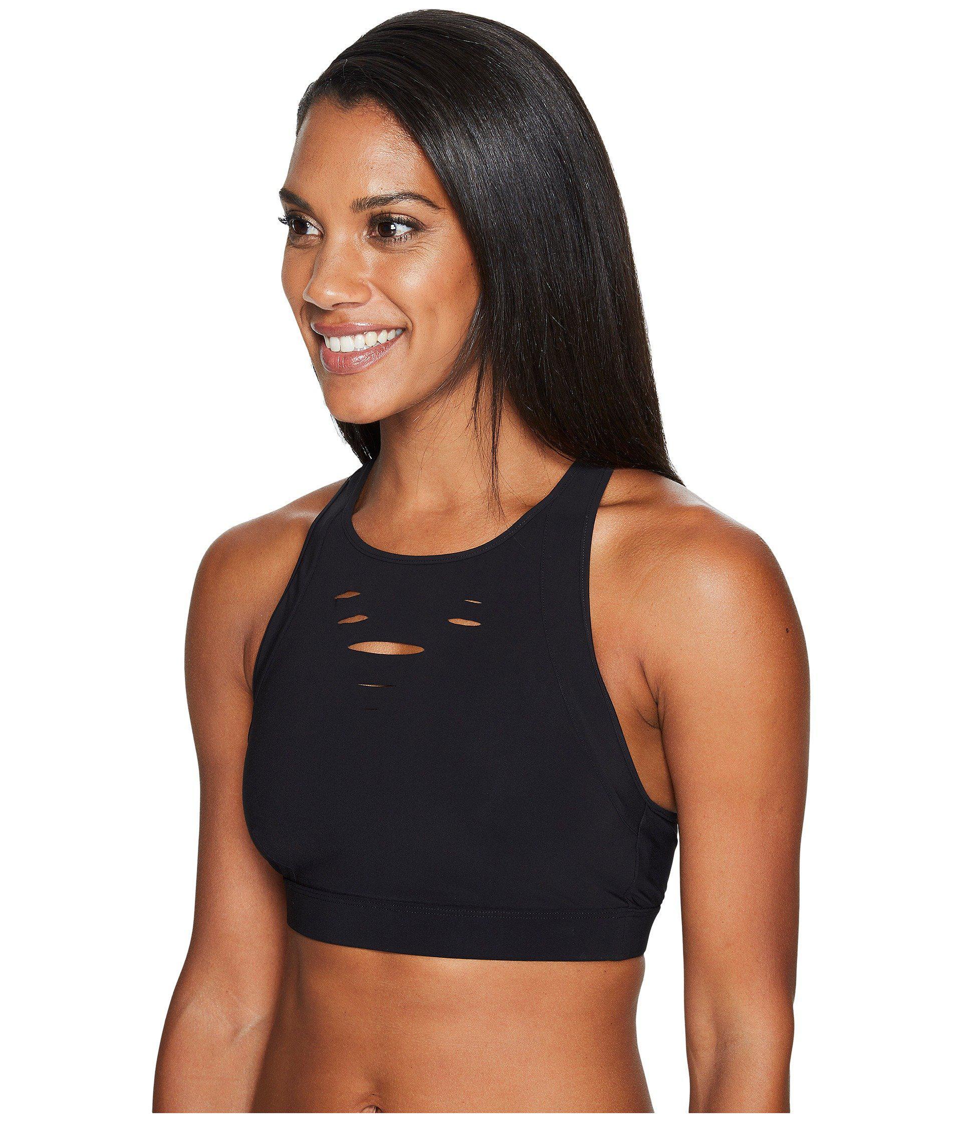 4eabbbfe967dc Lyst - Alo Yoga Ripped Warrior Bra (black) Women s Bra in Black
