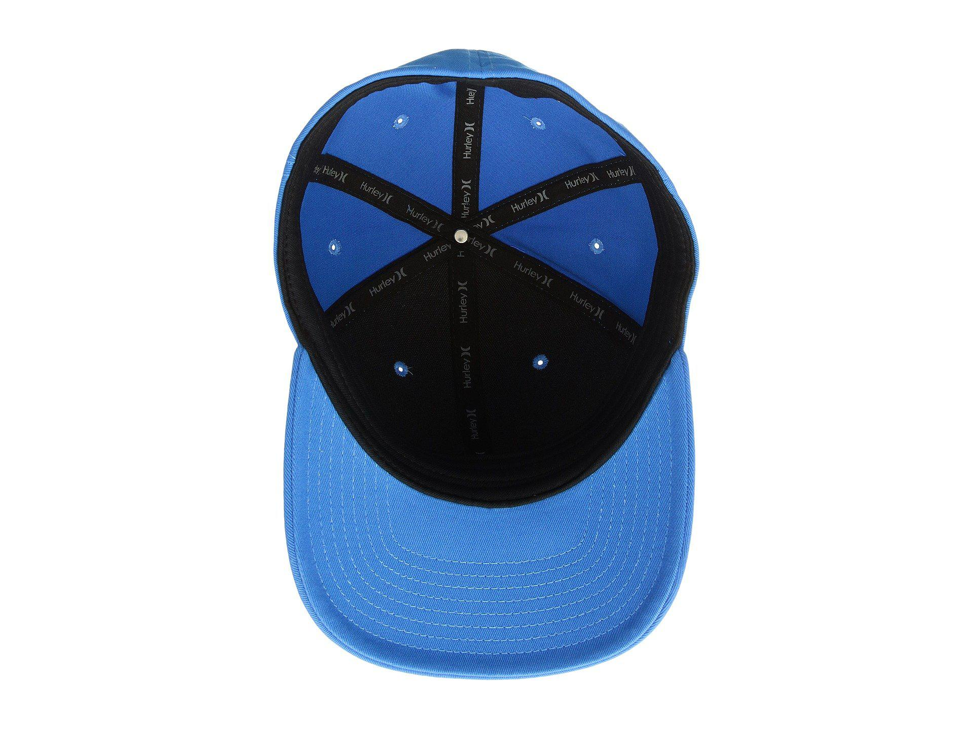 415aab7008130d Lyst - Hurley Corp Hat (white/black) Caps in Blue for Men