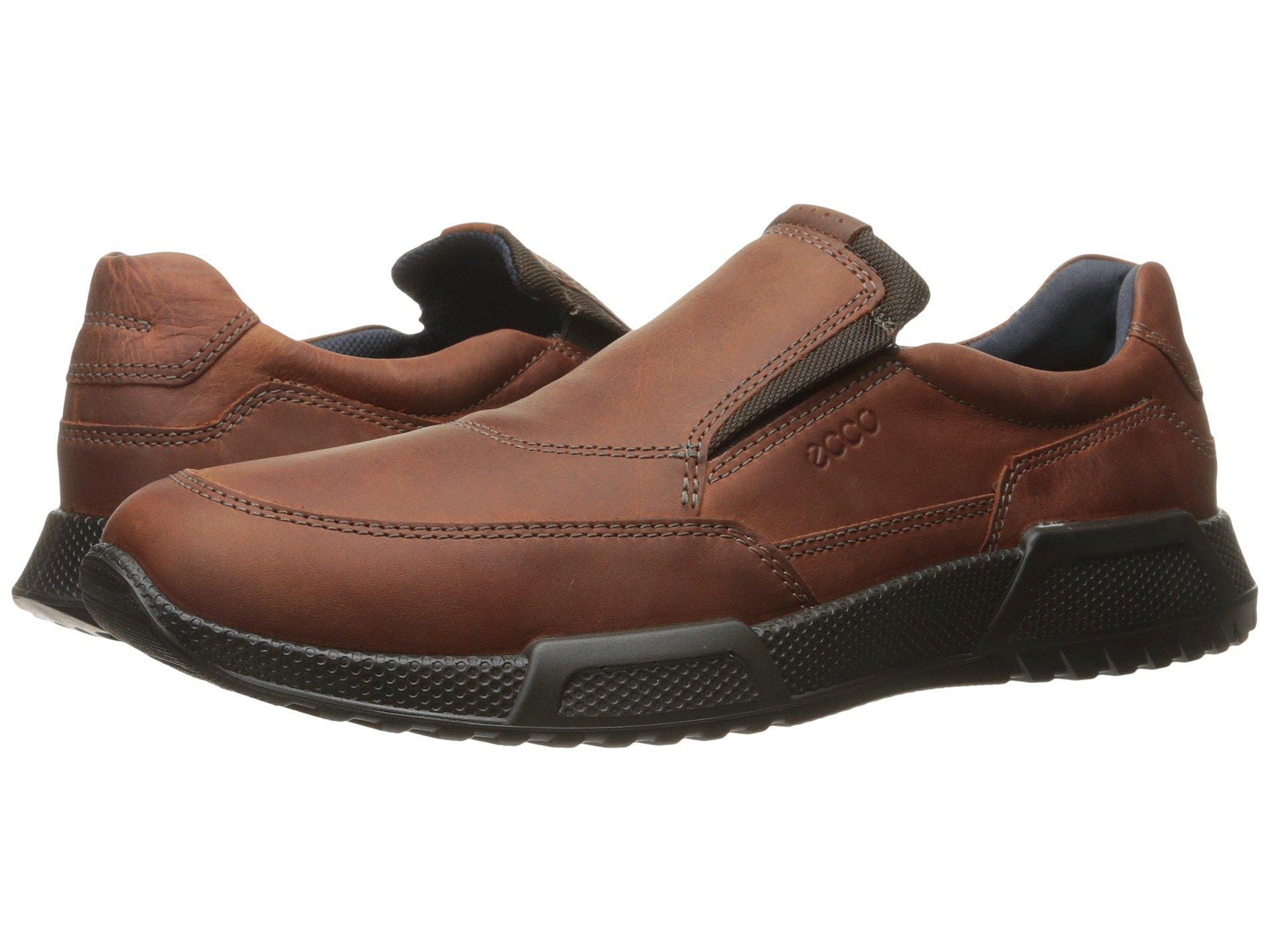 Ecco Leather Luca Slip On Trainers in