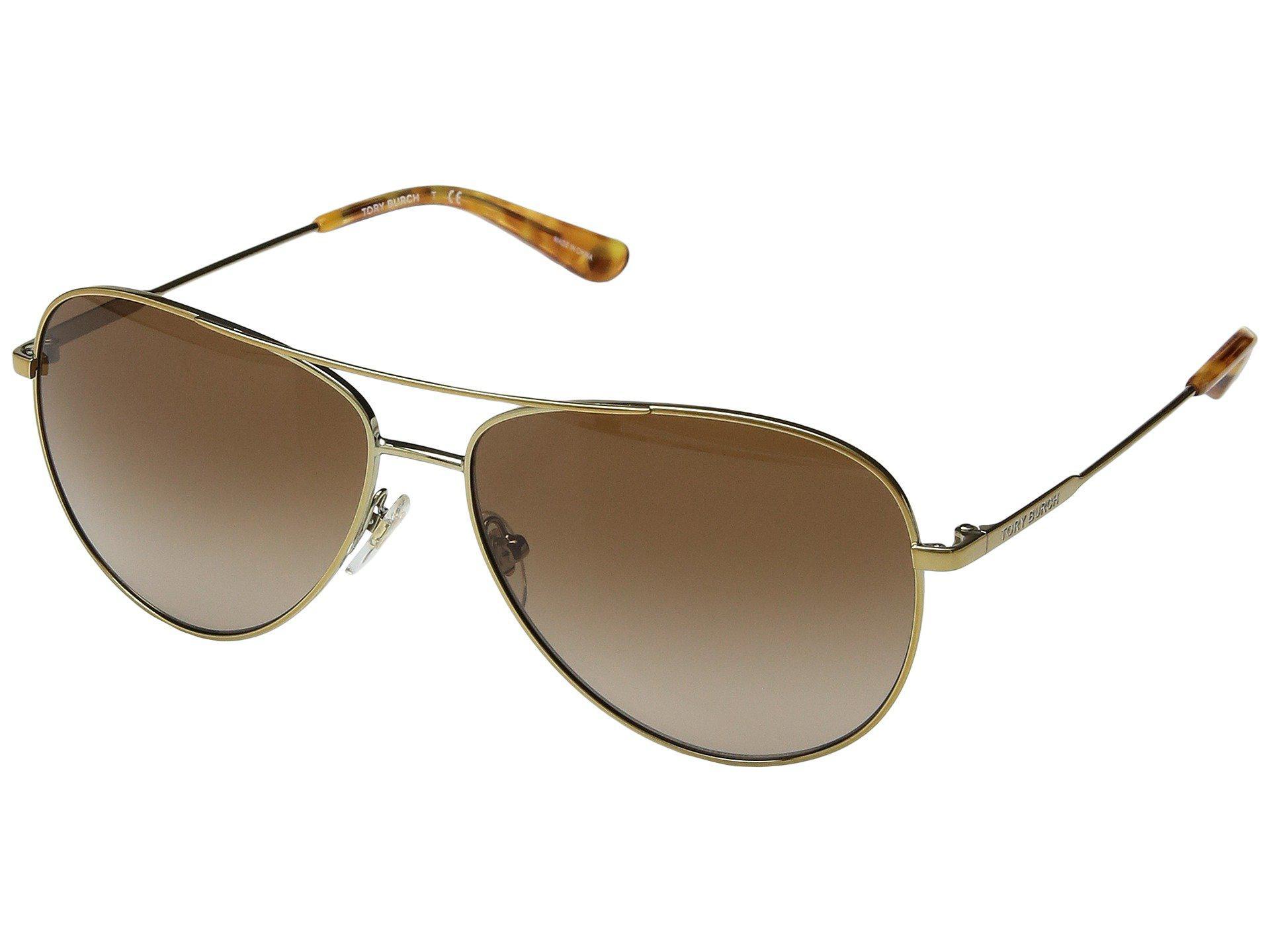 976f21eaf7 Lyst - Tory Burch 0ty6063 59mm (silver gredient Grey) Fashion Sunglasses