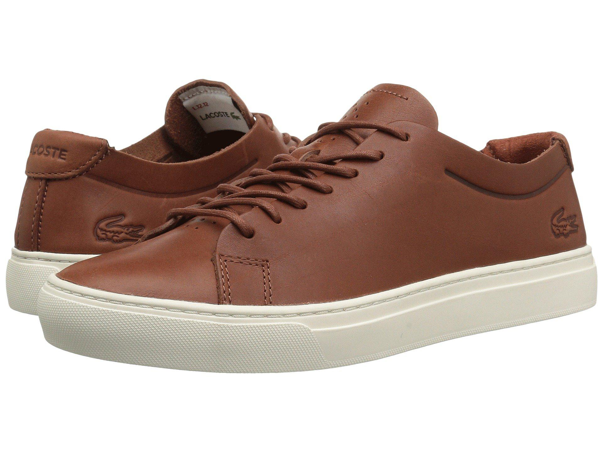 e5bc58528 Lacoste. Brown L.12.12 Unlined 118 1 (dark Tan off-white) Men s Shoes