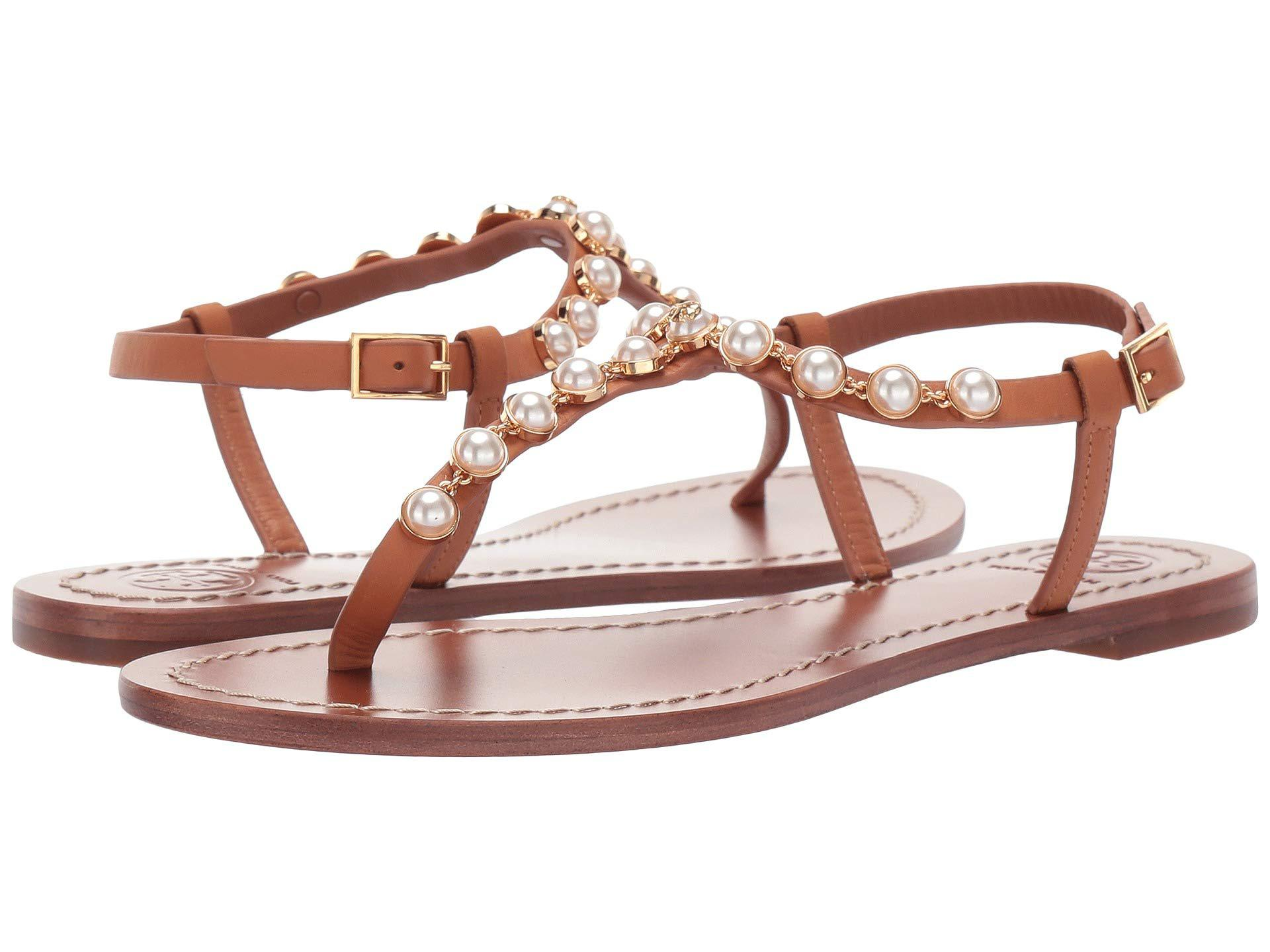 340d8817247 Lyst - Tory Burch Emmy Pearl Sandal (tan) Women s Sandals in Pink