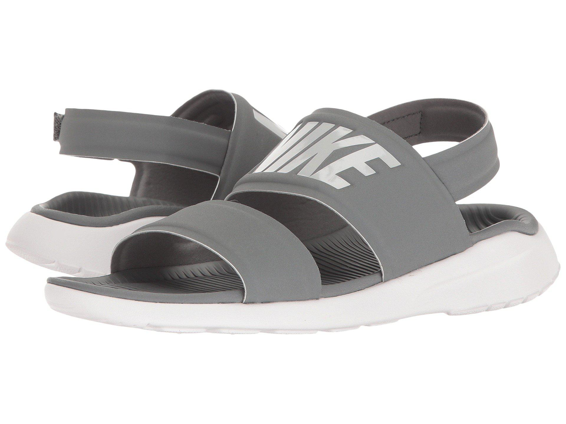 0aed20732 ... coupon lyst nike tanjun sandal black black white womens shoes in gray  c396b cc226