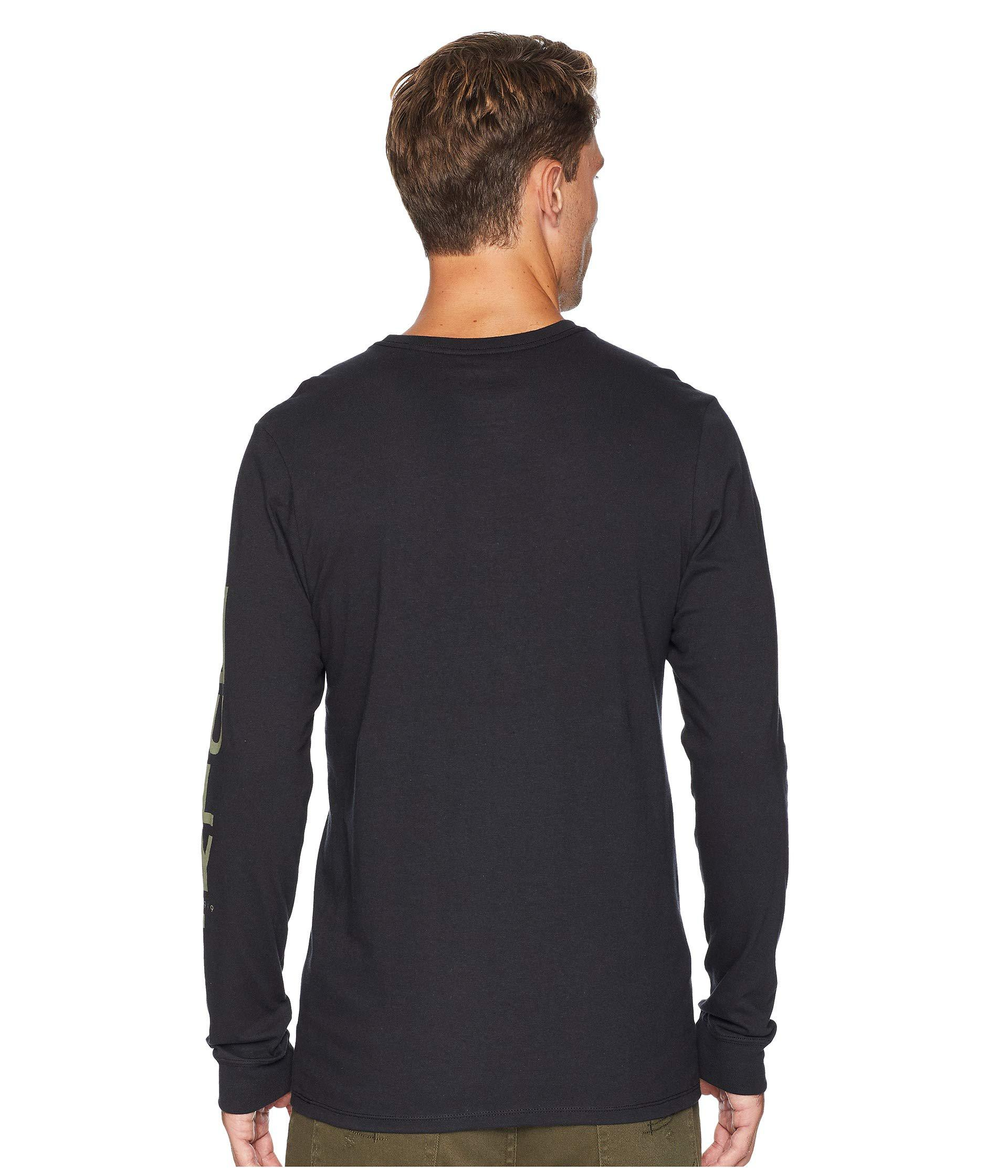 fb00c407 Hurley Core Arm Long Sleeve Tee (white) Men's T Shirt in Black for ...