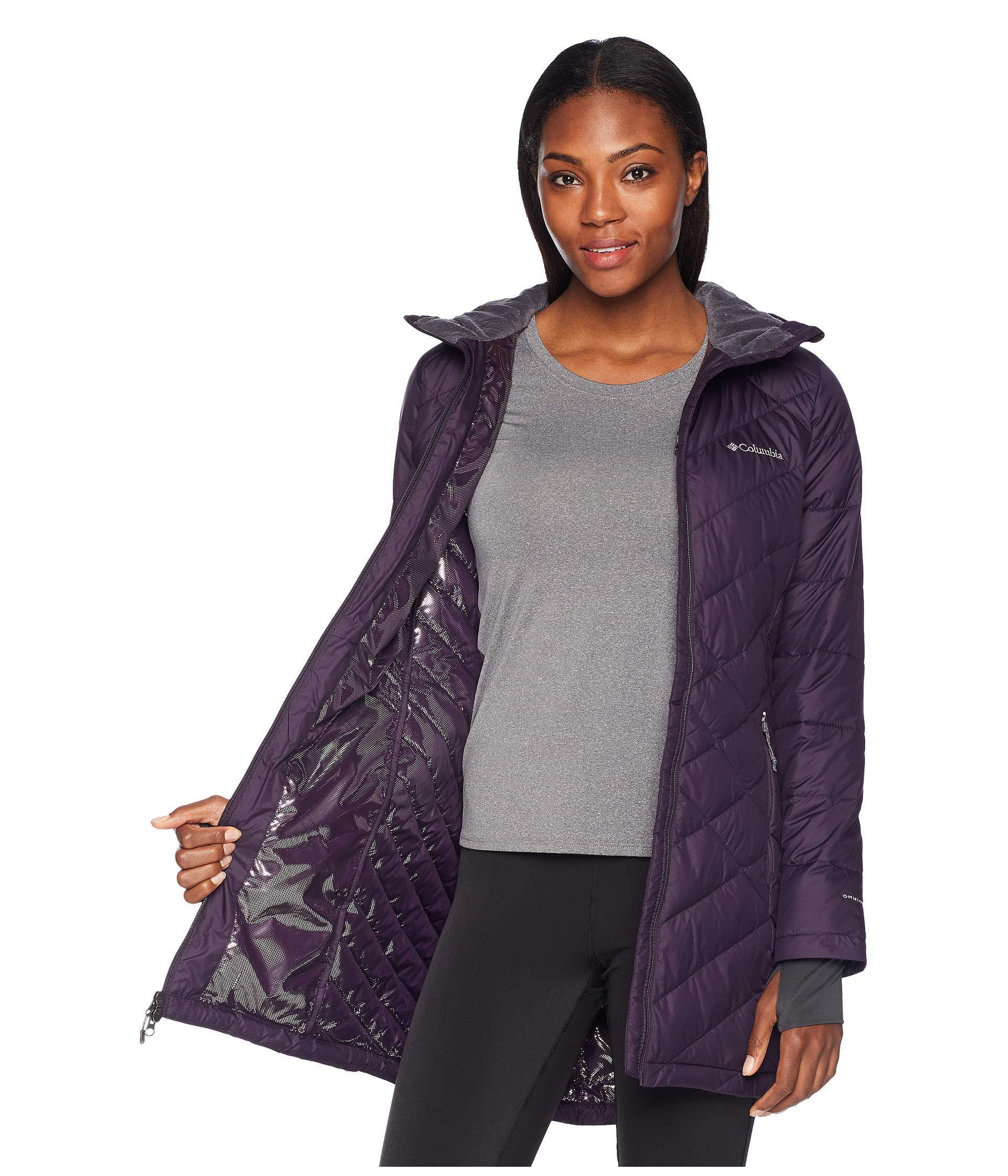 3cd71f62d798 Lyst - Columbia Heavenly Long Hooded Jacket (nocturnal) Women s Coat ...