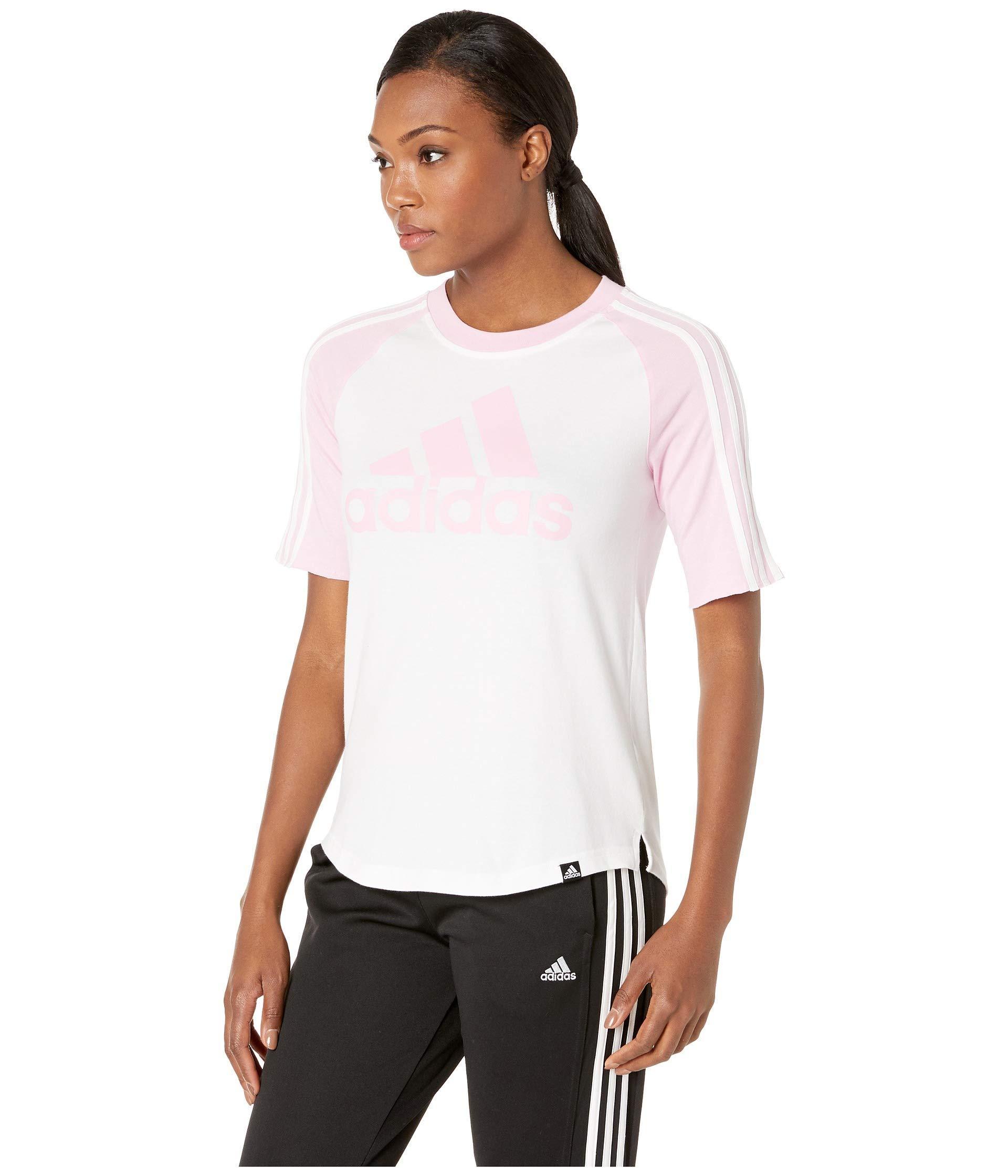 0f485fa059 Badge Of Sport Baseball Tee (white/medium Gray Heather) Women's T Shirt