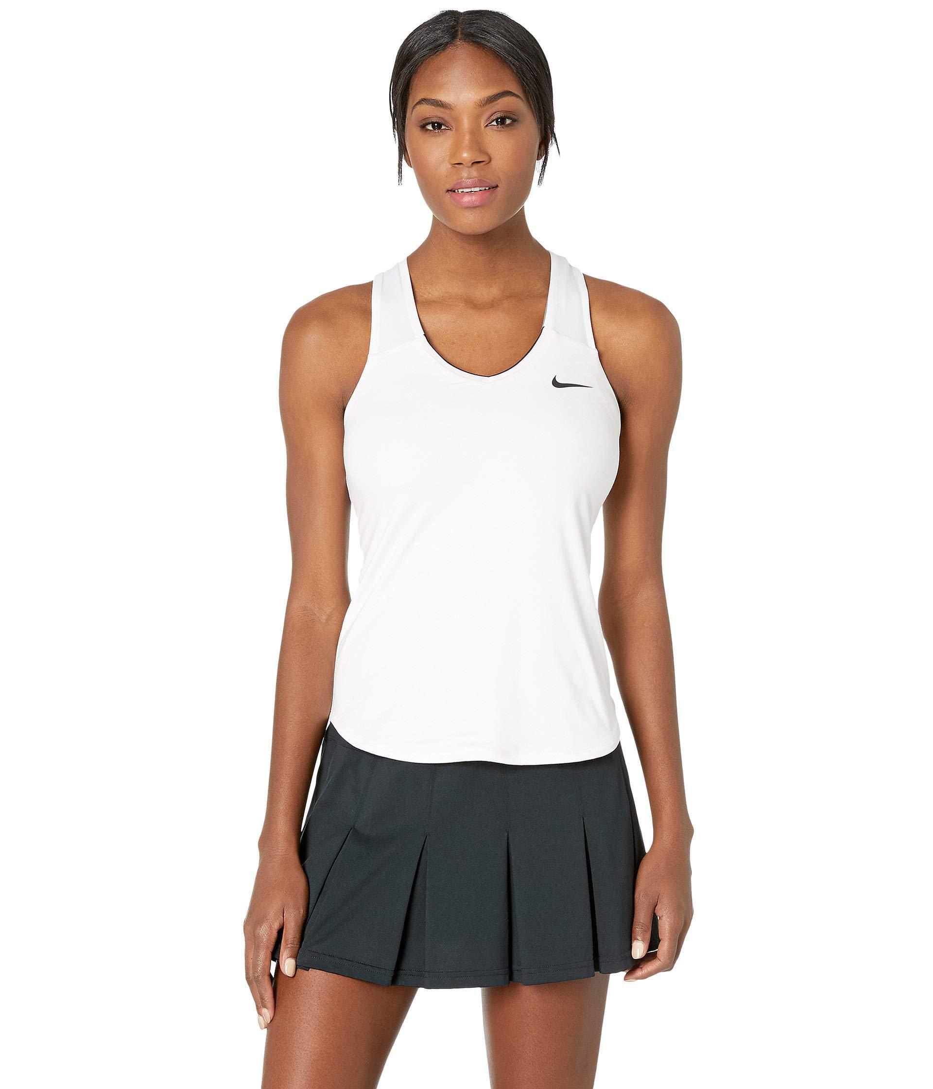 25104189d5b52 Nike Court Team Pure Tennis Tank Top (black/white) Women's ...