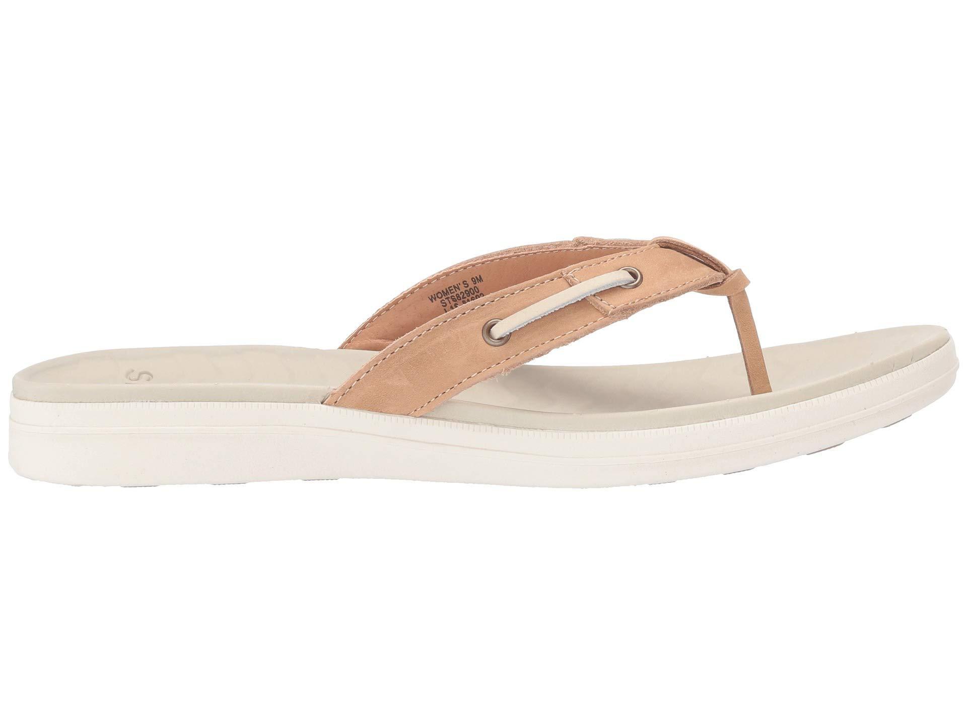 Sperry Womens Adriatic Thong Skip Lace Seersucker Sandal 9 M White//White