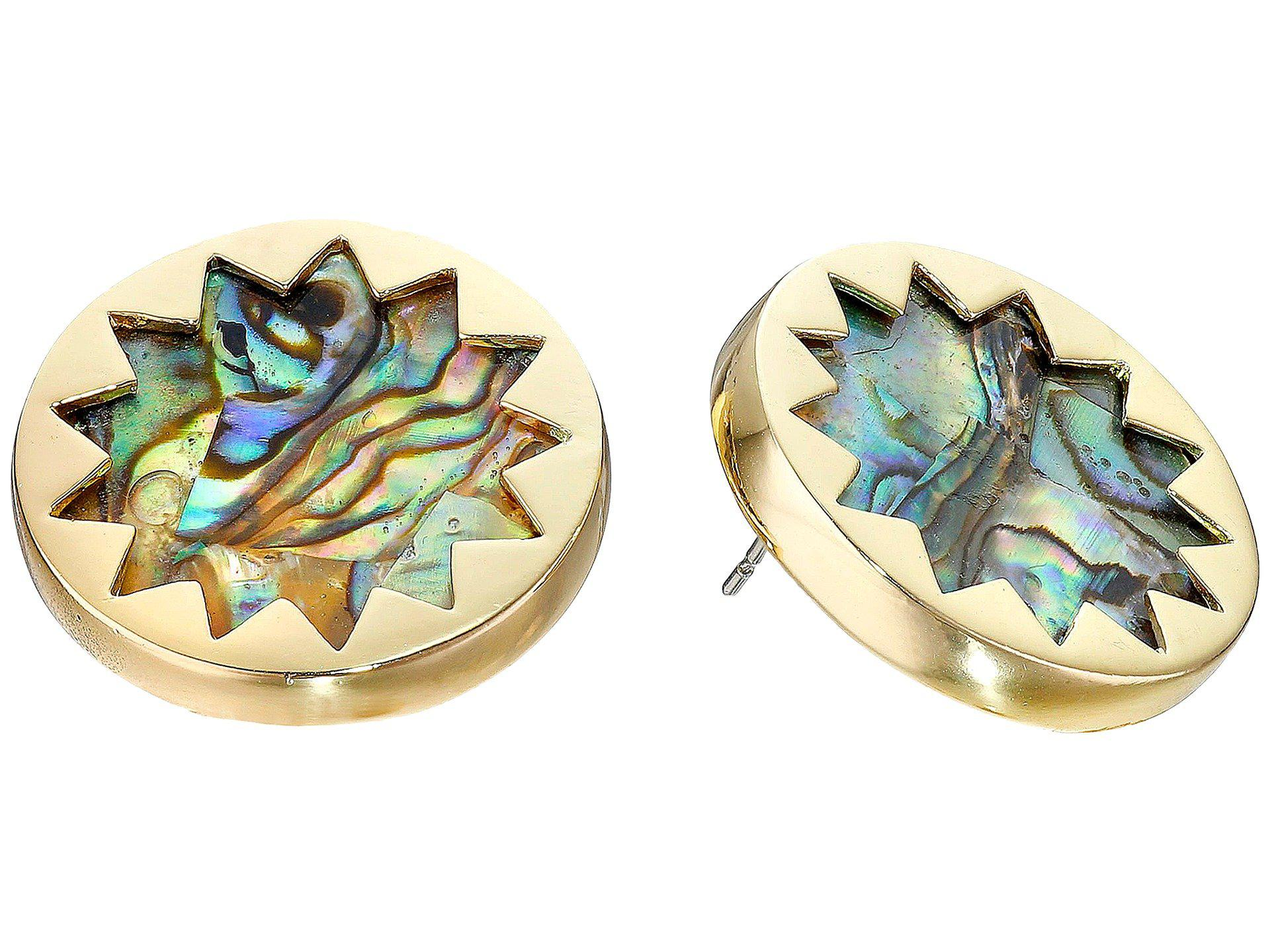 stud earrings studs mexican flourish sterling pin silver shaped vintage abalone bohemian hexagon