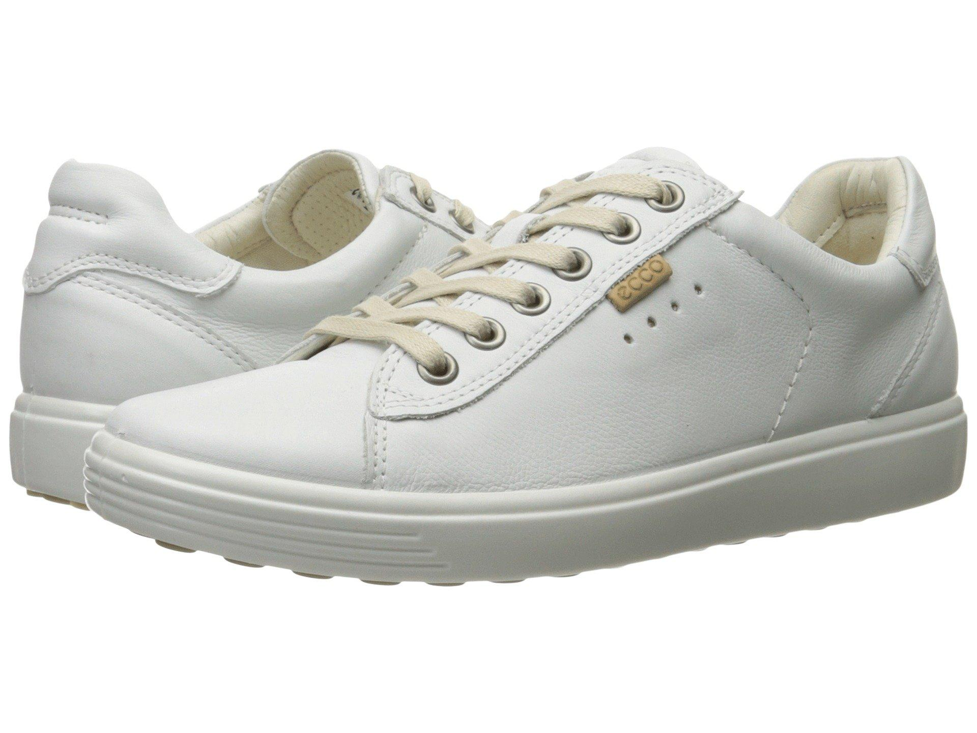 b7615b6d Ecco Gray Soft Sneaker (black Cow Leather) Women's Lace Up Casual Shoes