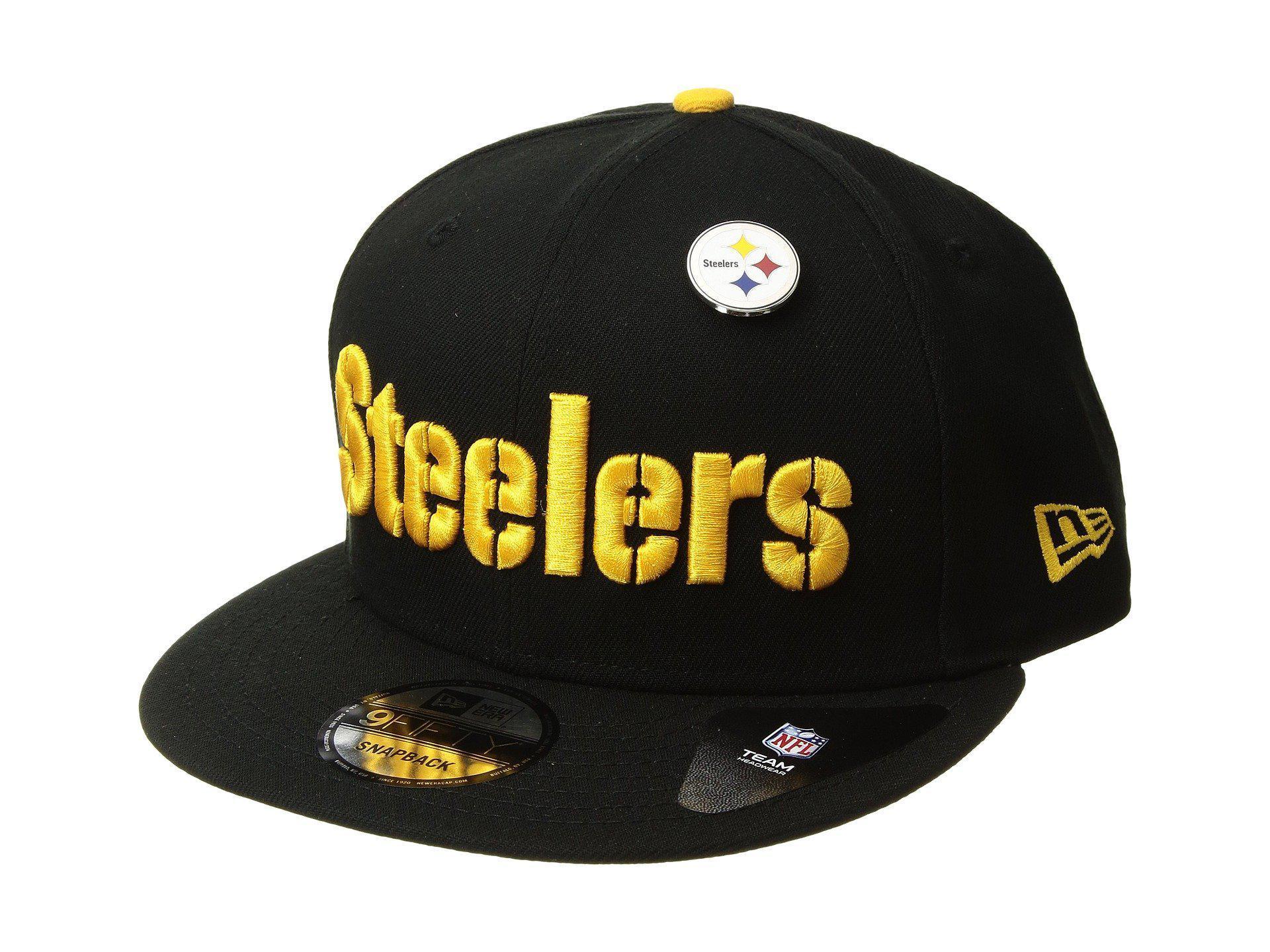77d2ce145f5 Lyst - KTZ Pittsburgh Steelers Pinned Snap (black) Baseball Caps in ...