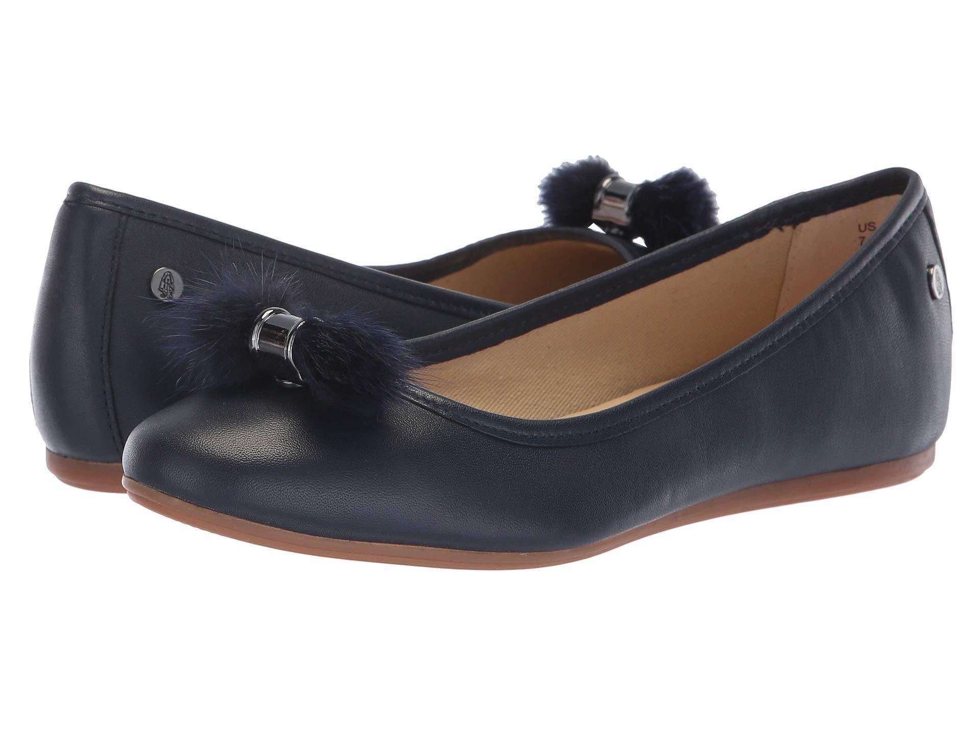 bacdb55386b Lyst - Hush Puppies Heather Puff Ballet (black Leather) Women s Slip ...