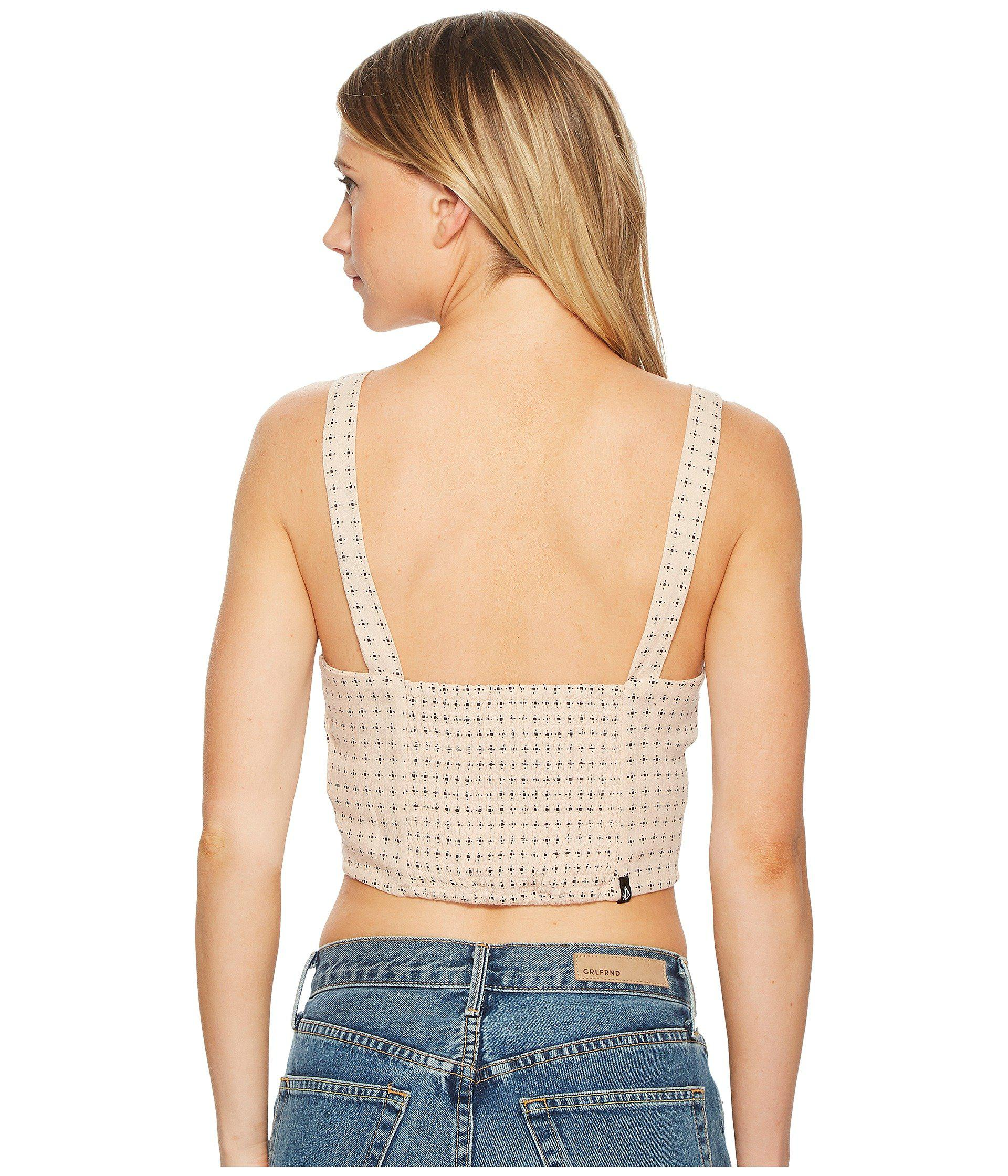 Volcom Womens Get to Steppin All Over Bustier Top