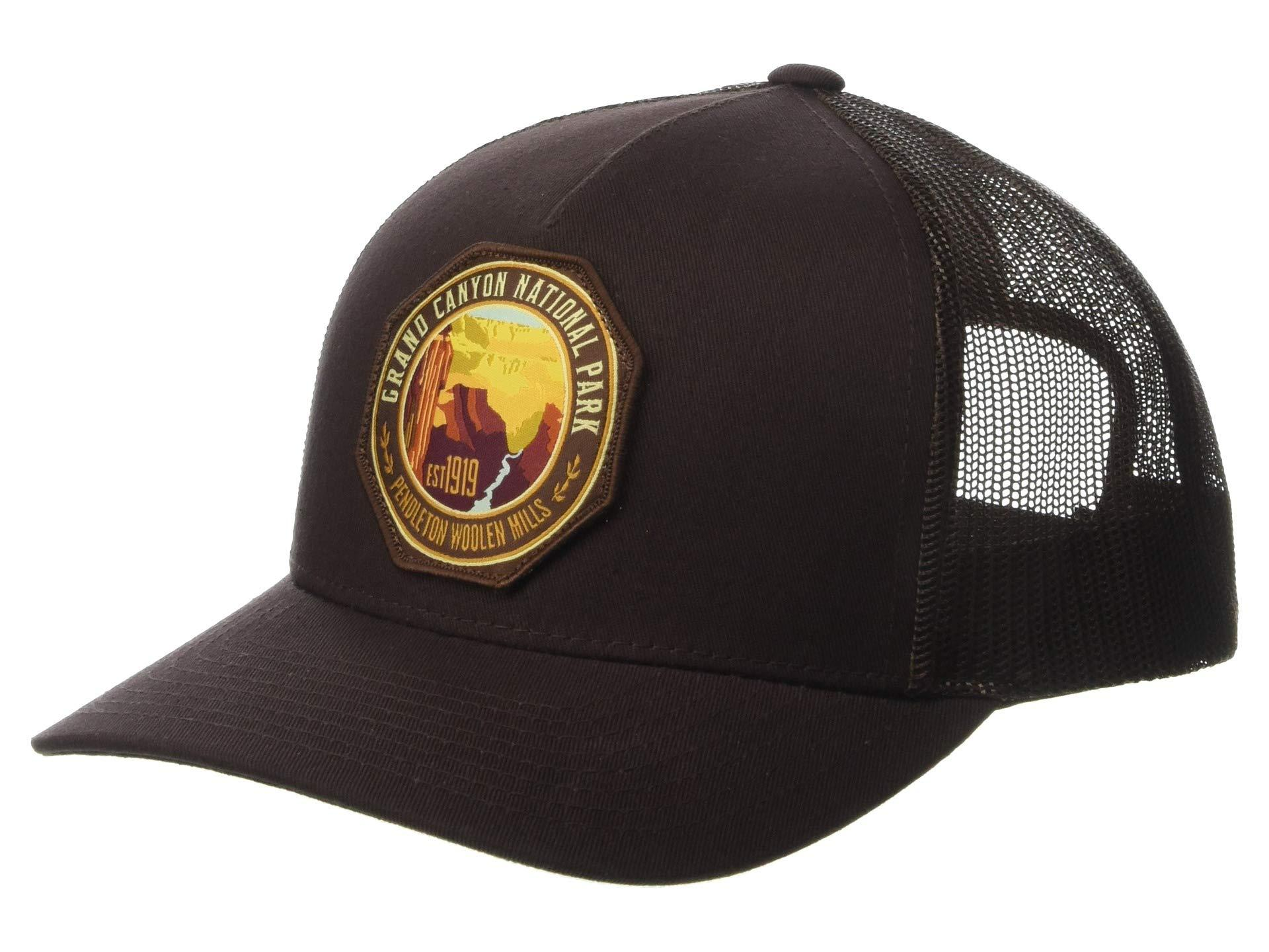 7a4c4d8f387 Pendleton. Men s Brown National Park Trucker Hat (navy crater Lake) Baseball  Caps