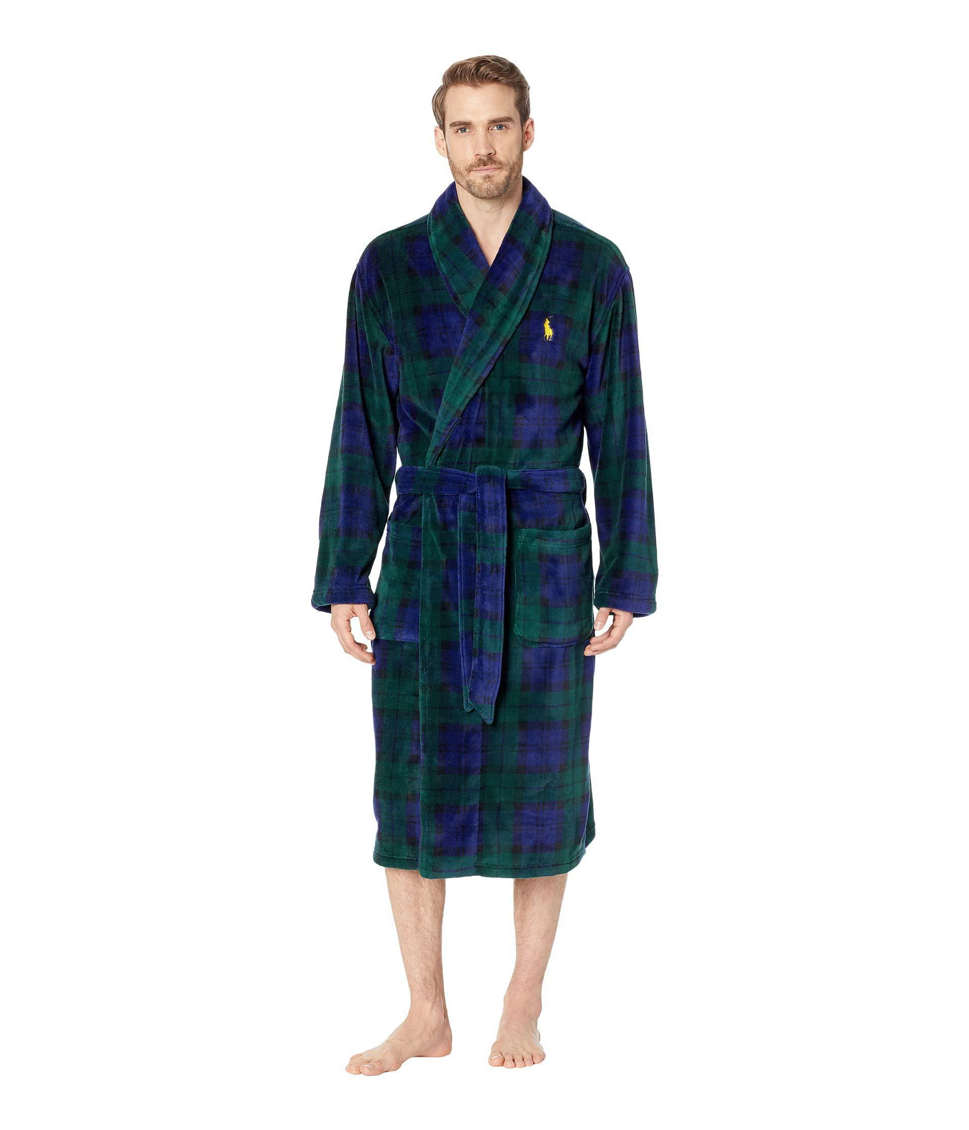 094de61c24d france lyst polo ralph lauren mens brushed jersey robe in blue for ...