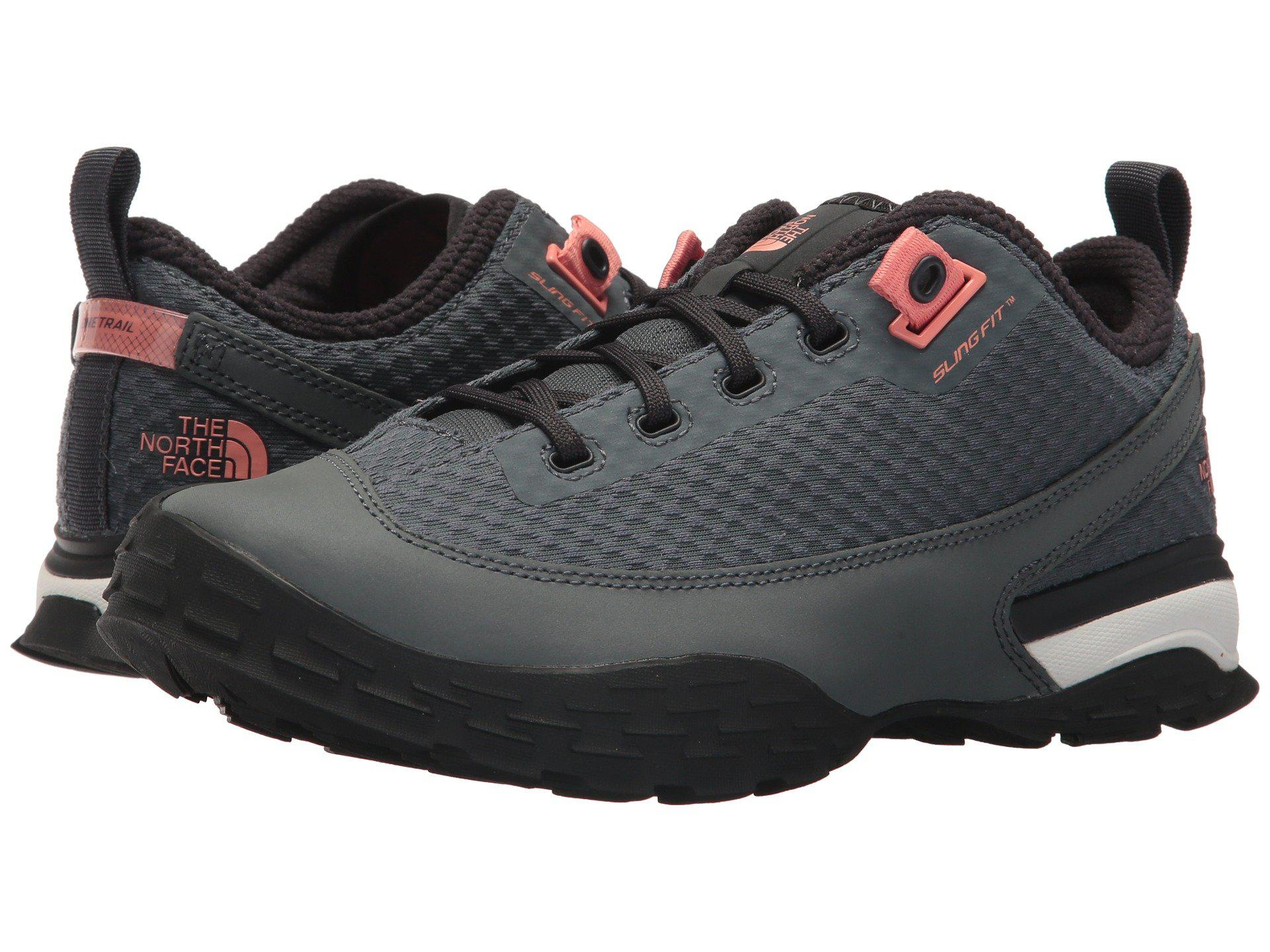 87ca78817cbf The North Face. Gray One Trail (turbulence Grey desert Flower Orange)  Women s Shoes