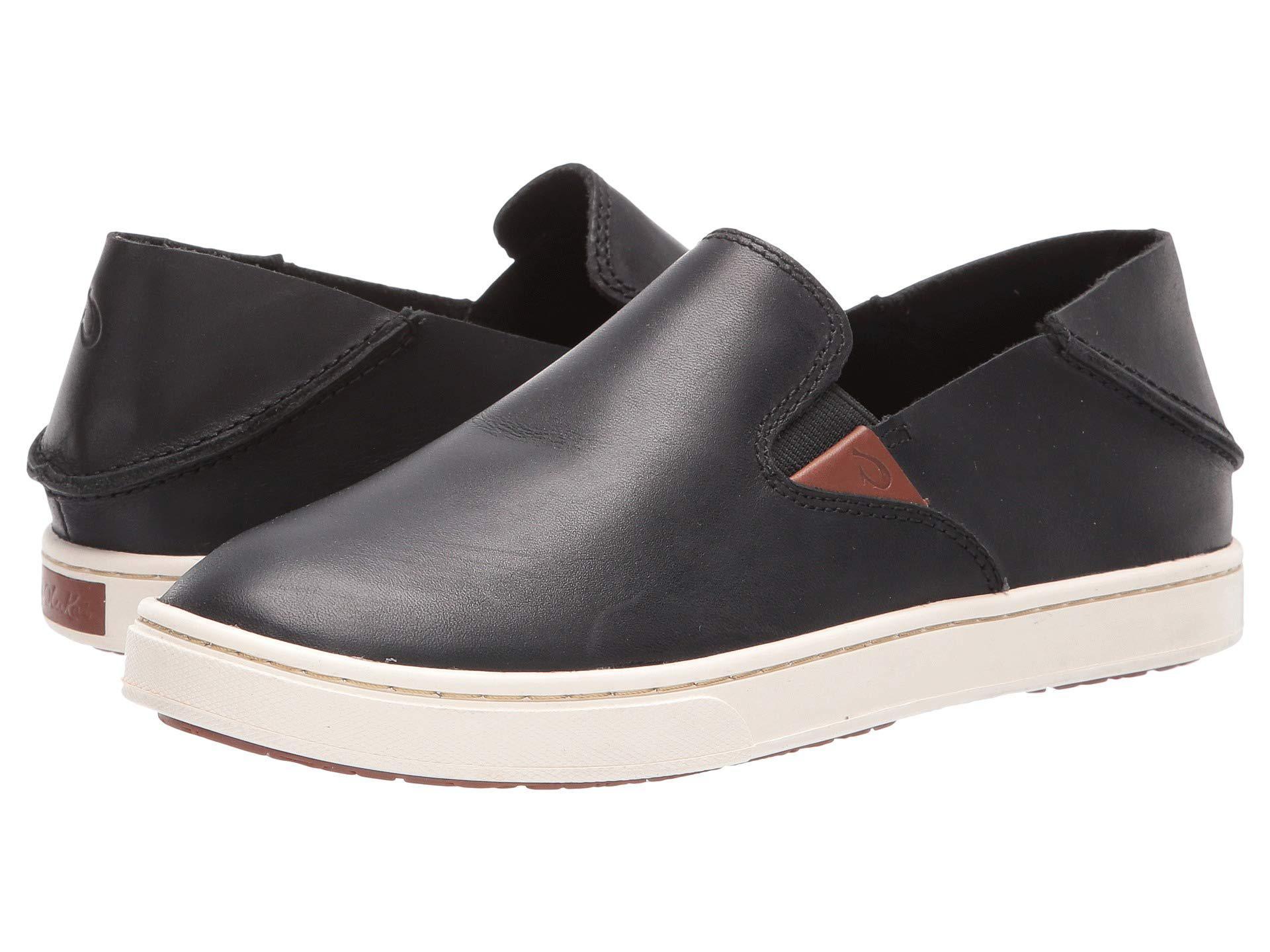 Lyst - Olukai Pehuea Leather (black Honu black) Women s Shoes in Black 336414894