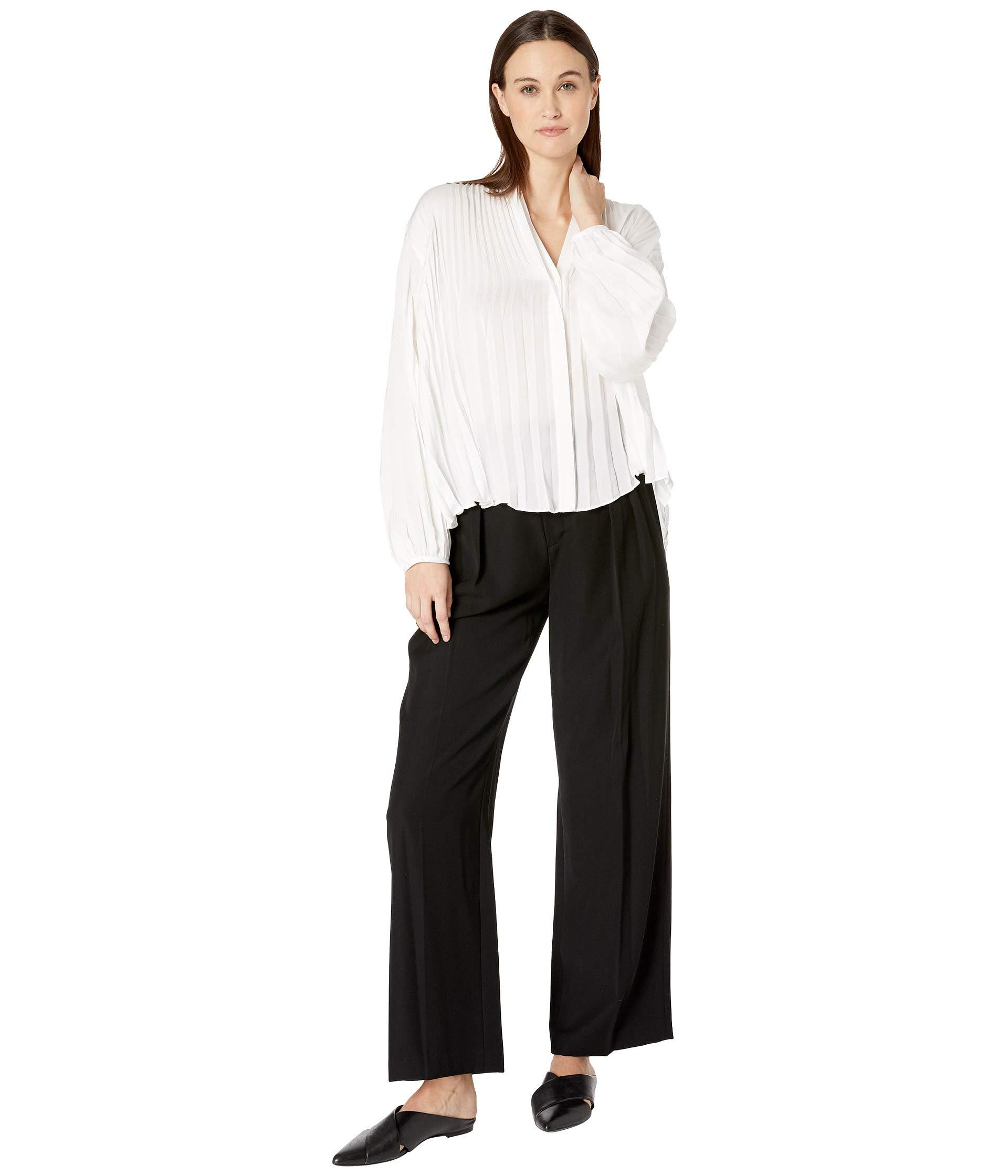 ed33bac700d42 Vince - Chevron Pleated Blouse (optic White) Women s Clothing - Lyst. View  fullscreen