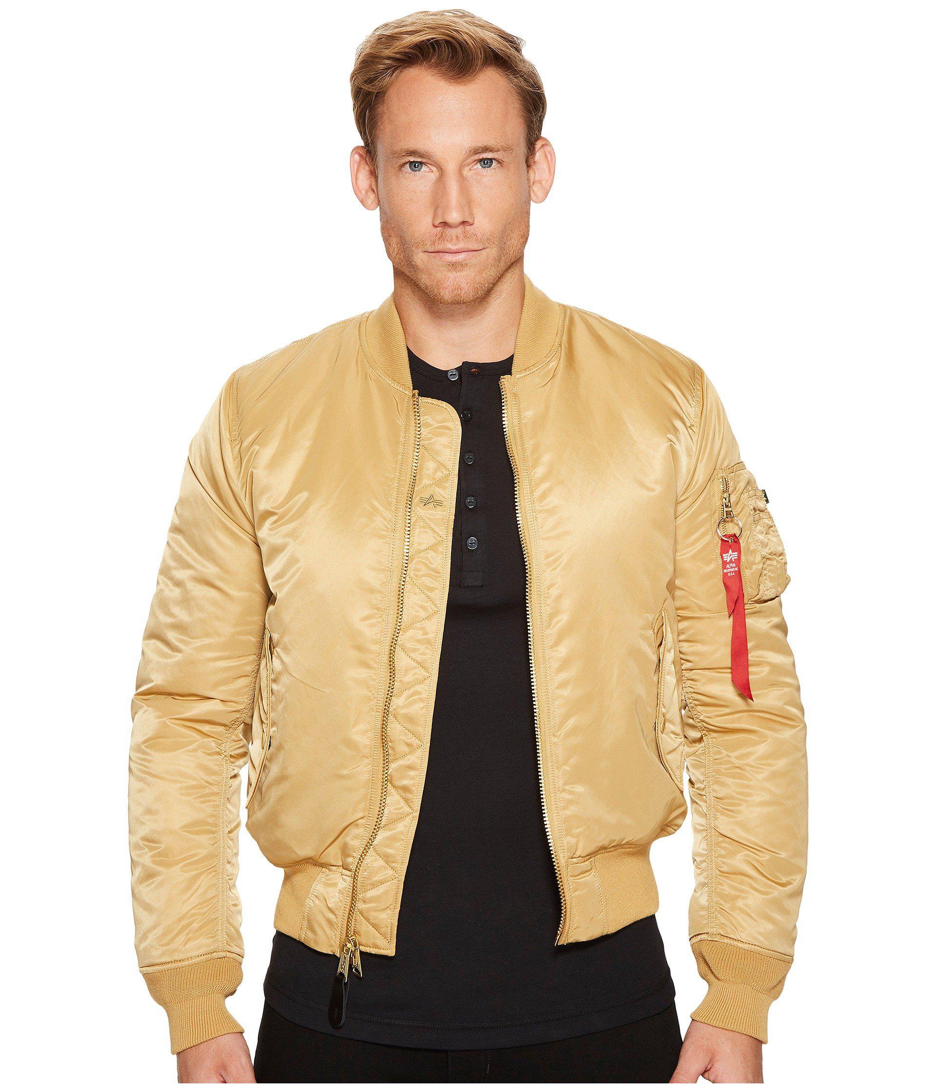 116ec1156 Men's Natural Ma-1 Slim Fit Flight Jacket