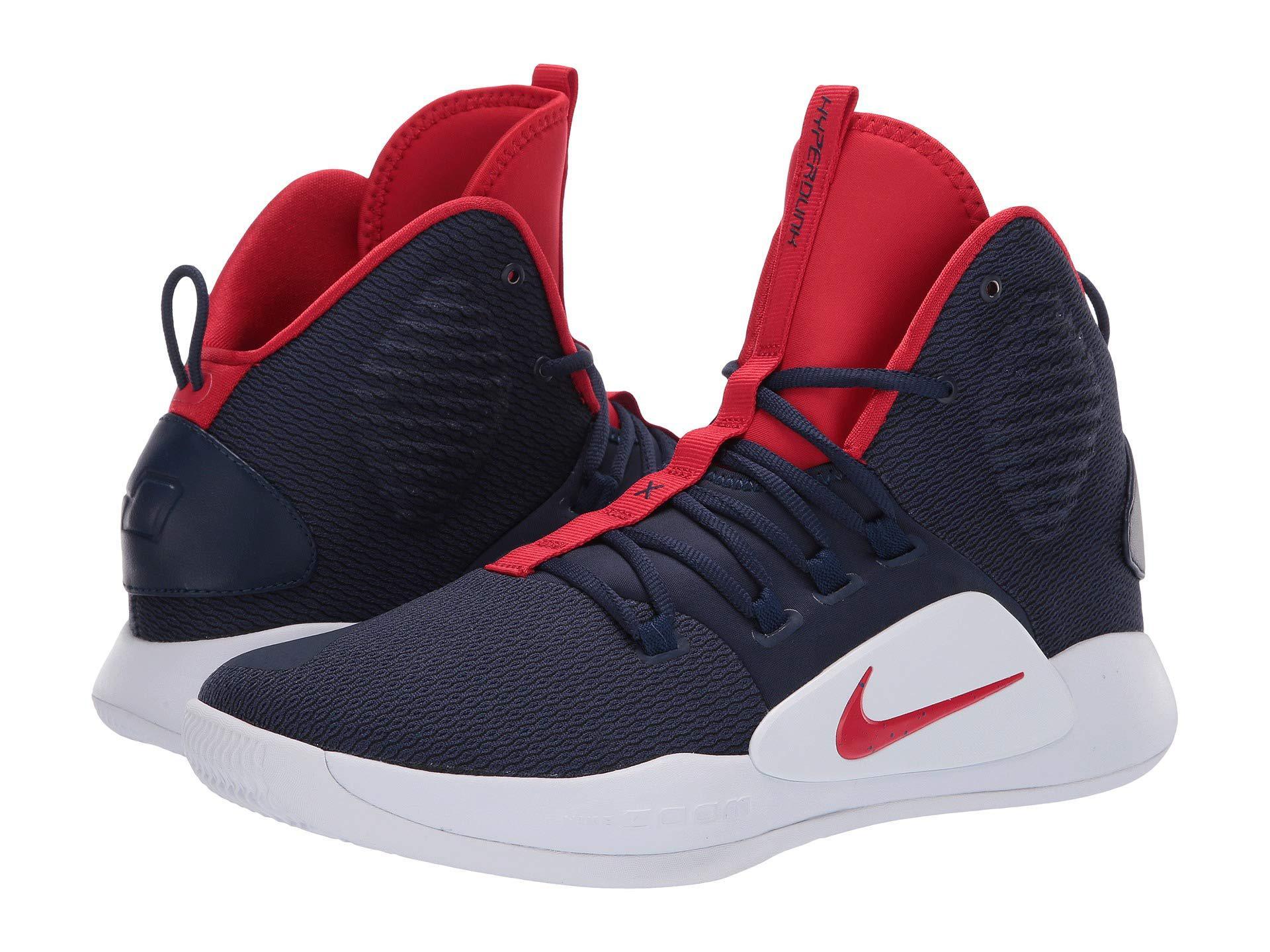 detailed look 451f6 c79c3 Nike Hyperdunk X (midnight Navy university Red white) Men s ...