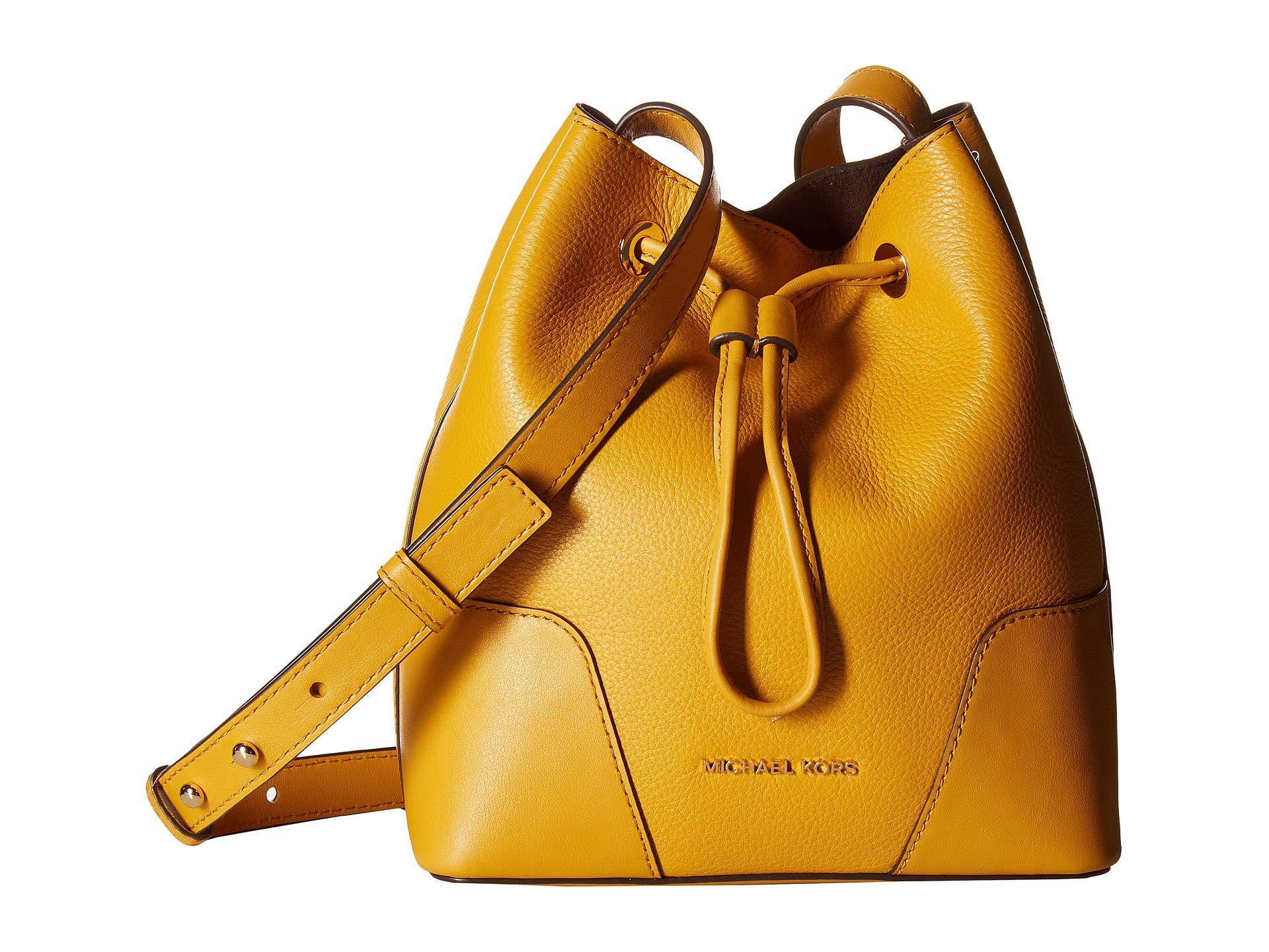 31dcc9f9f95f Lyst - MICHAEL Michael Kors Cary Small Bucket Bag (marigold) Bags in ...
