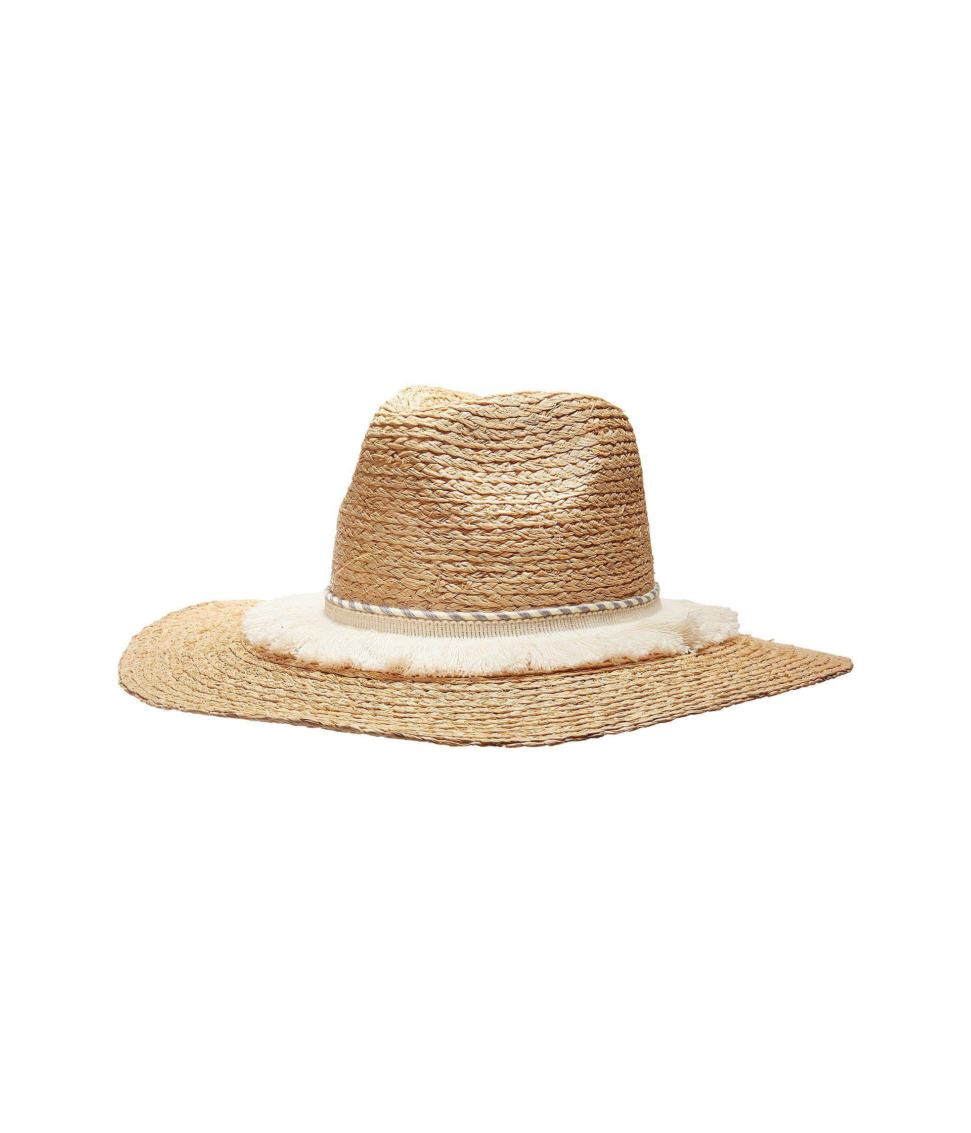 Pom Pompeii Wide Brim Hat in Tan Michael Stars 4cQMXzA