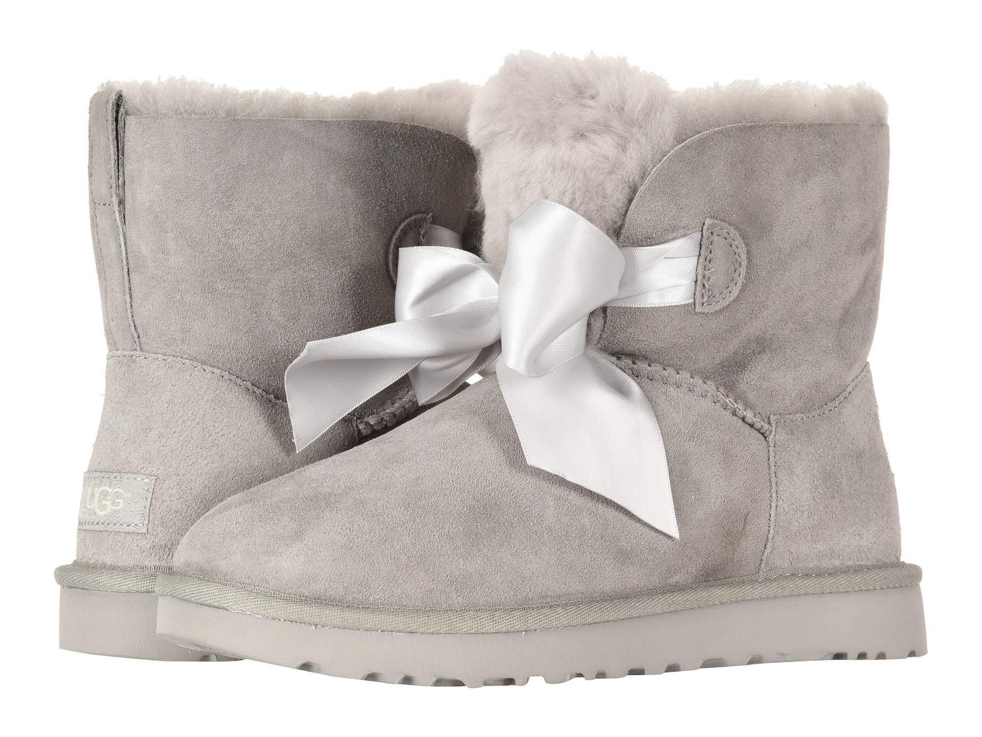 6983235cdcb Gita Bow Mini Boot (seal) Women's Pull-on Boots