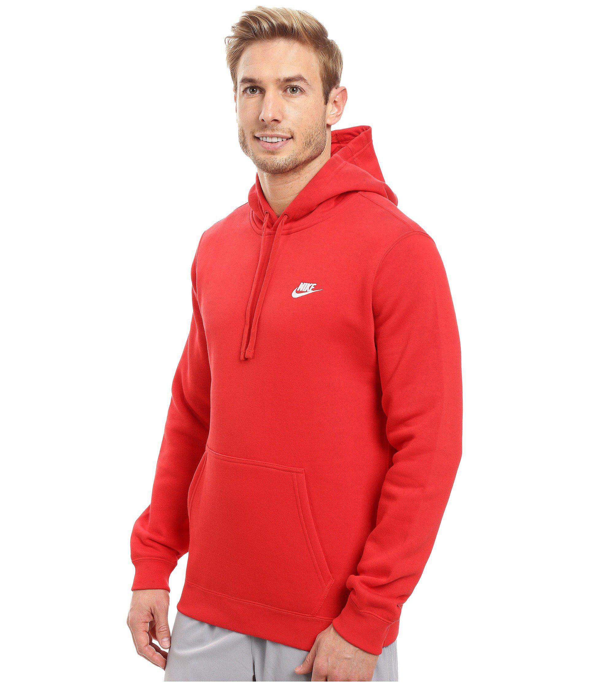 nike hoodie university red