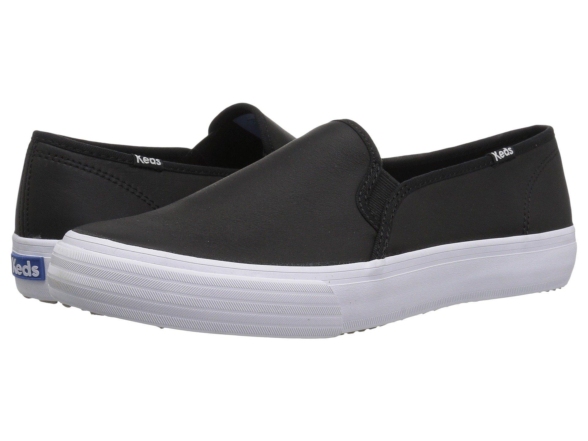 Keds Double Decker Leather in Black - Lyst