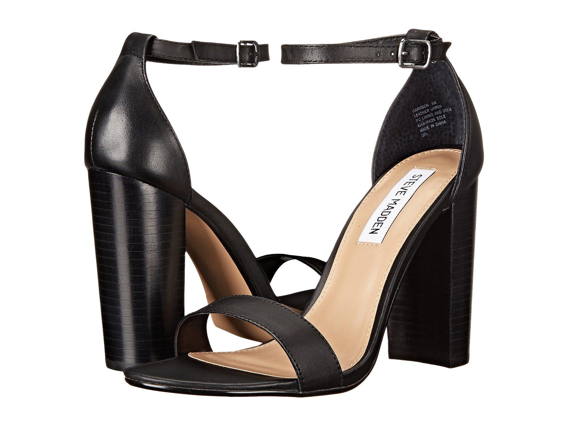 27ee6c76f5032 Lyst - Steve Madden Carrson Heeled Sandal (black Suede) High Heels ...