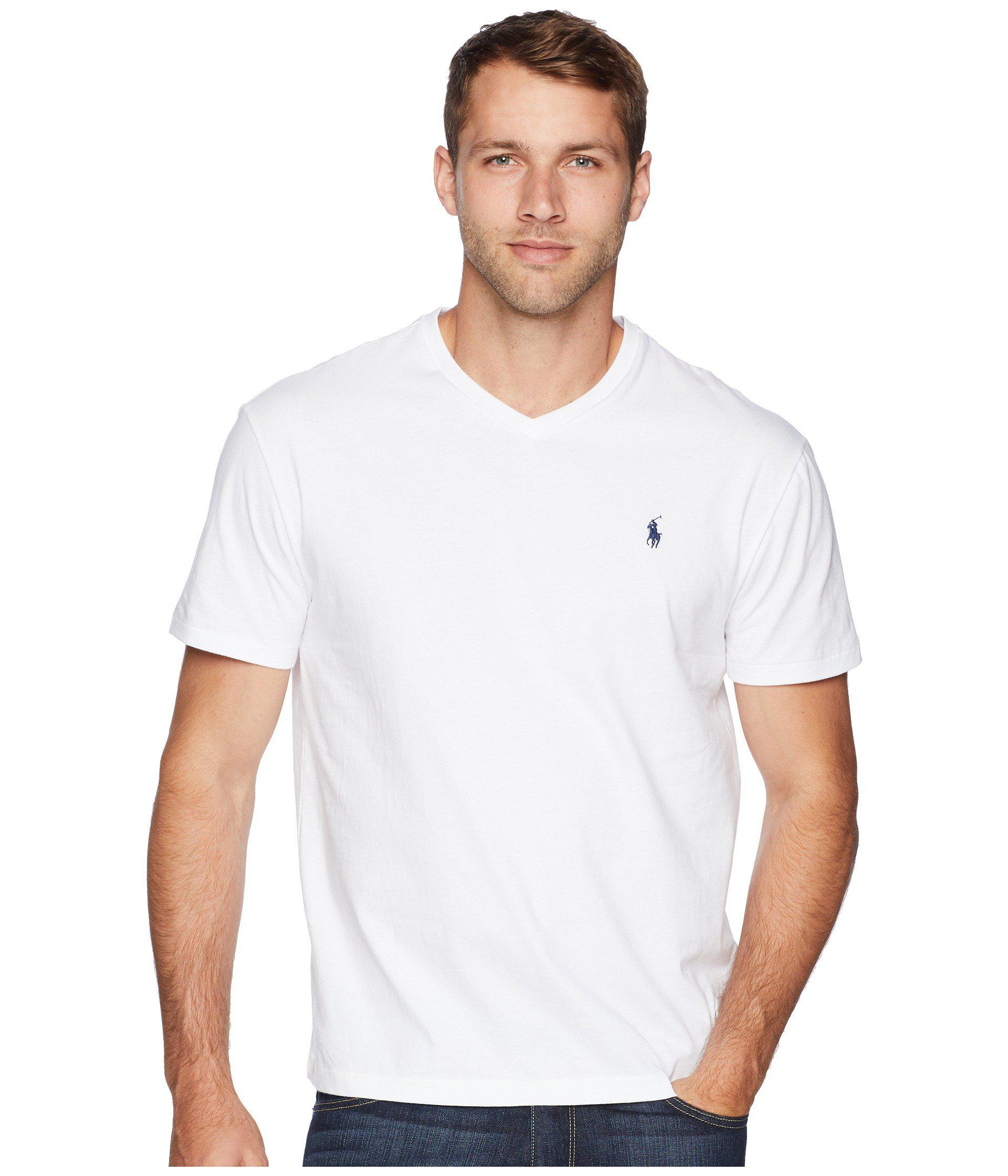 bd4eaf007e Men's White Classic V-neck T-shirt
