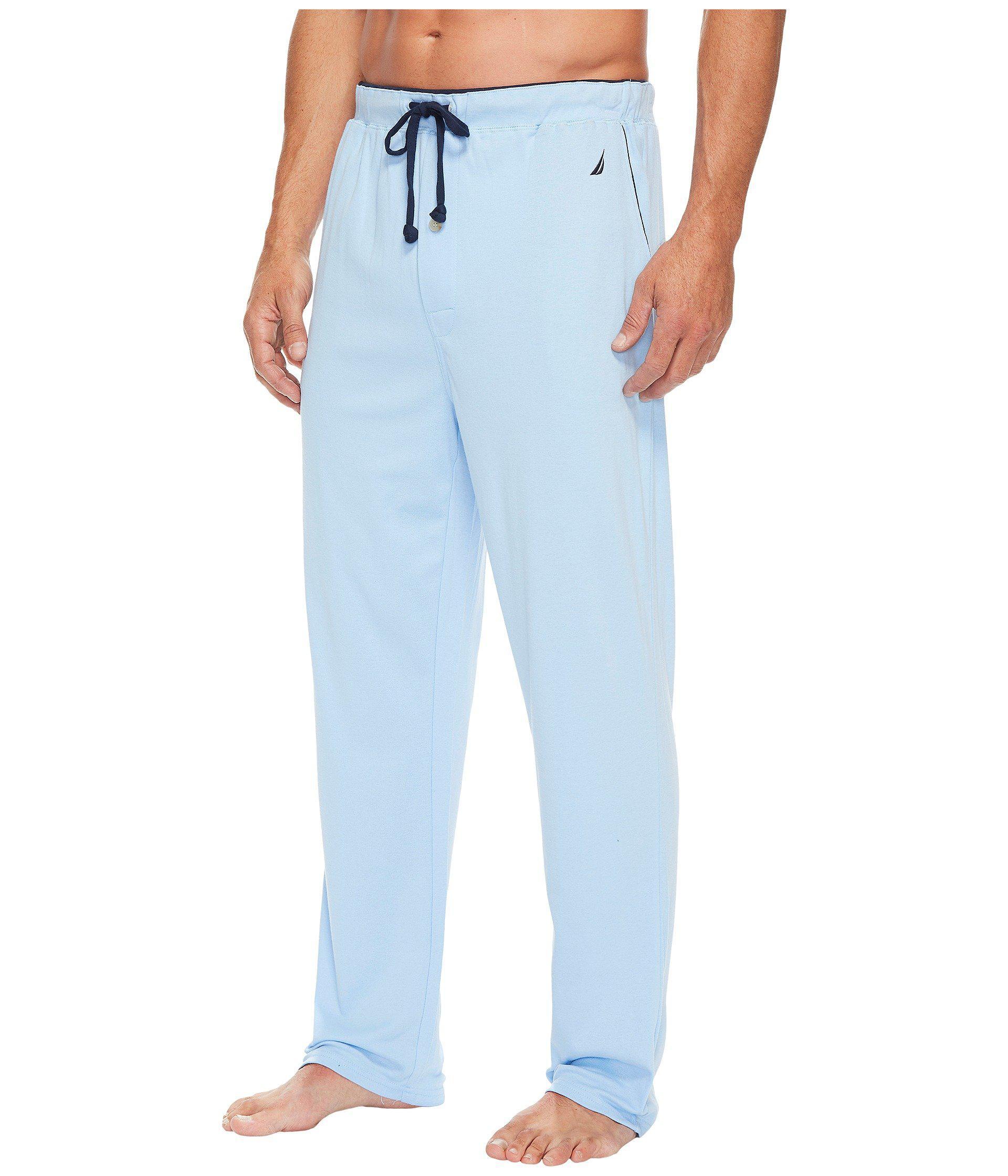 ea432aa6b246 Lyst - Nautica Knit Sleep Pants (grey Heather) Men s Pajama in Blue for Men
