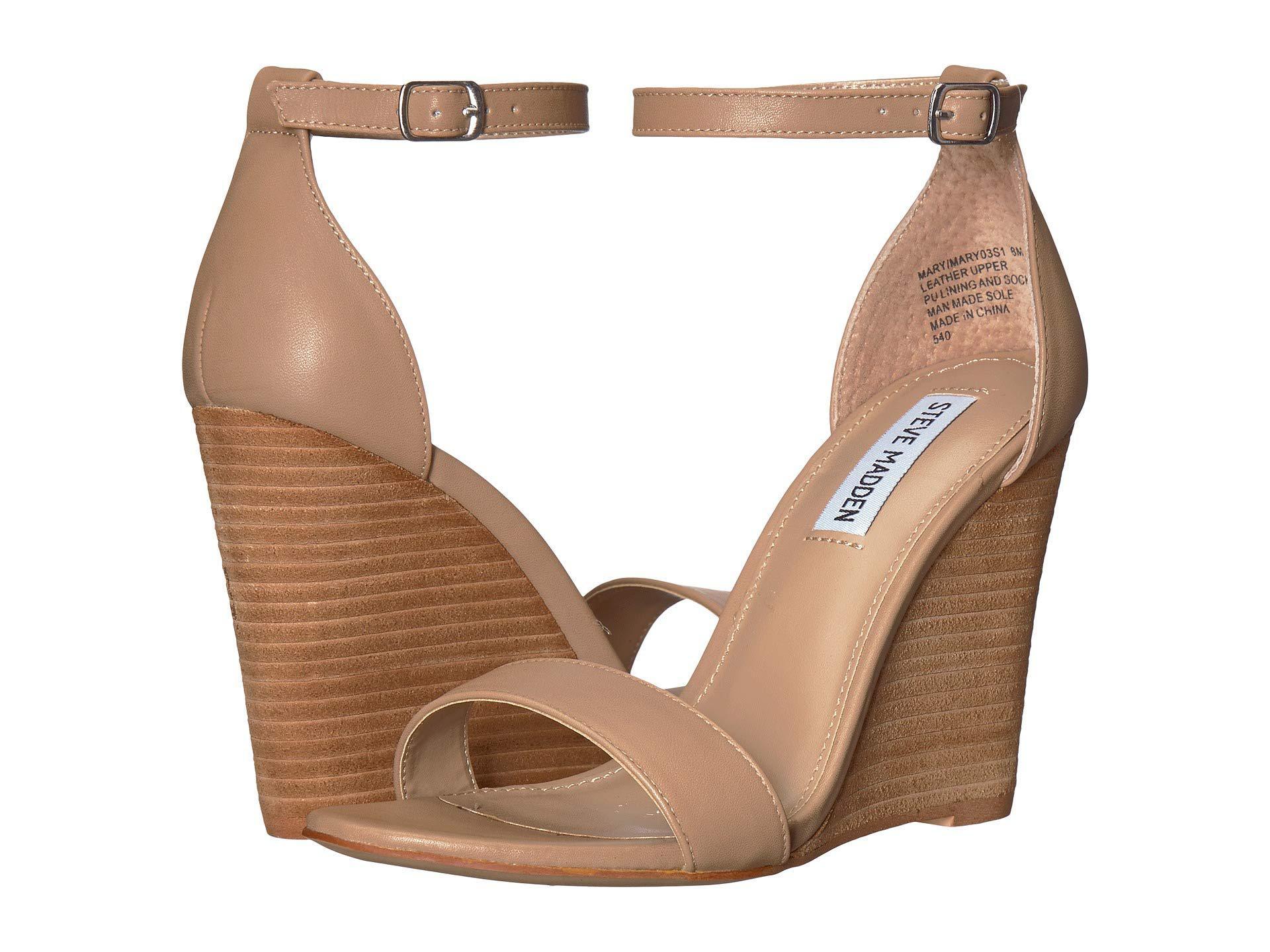 29b2a67dfef Lyst Steve Madden Mary Wedge Sandal Black Suede Women S Sandals