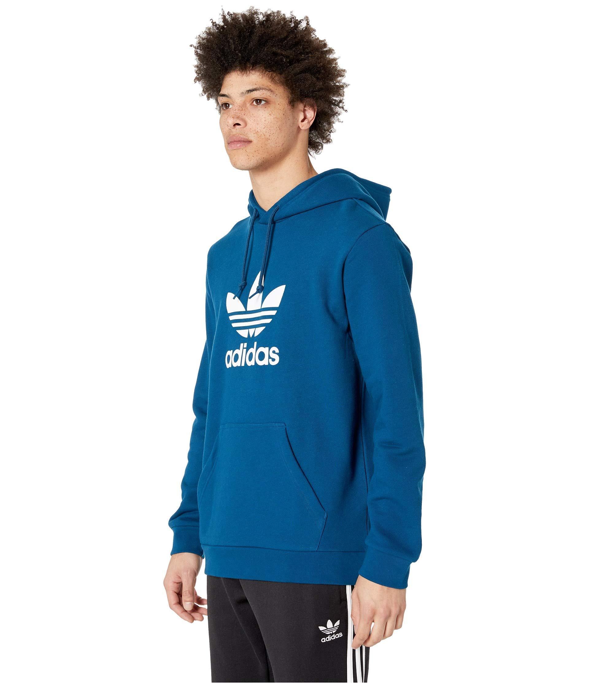 new product abe5e 71011 Lyst - adidas Originals Trefoil Hoodie (medium Grey Heather) Men s  Sweatshirt in Blue for Men