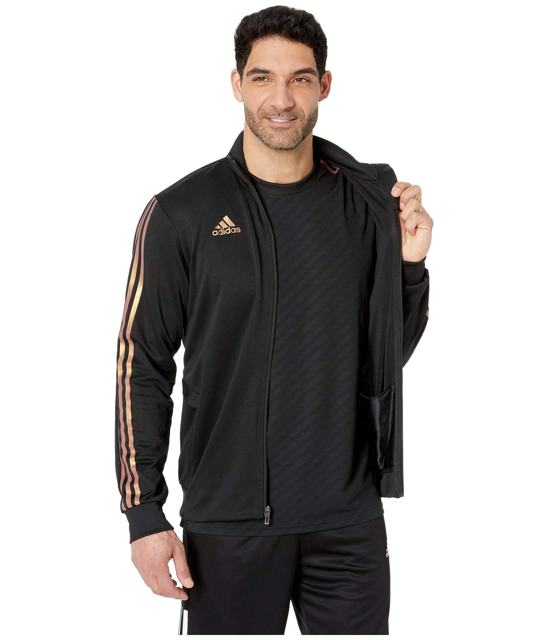 35b99fc12 adidas Afs Tiro Track Jacket (black/gold Metallic) Men's Coat in ...