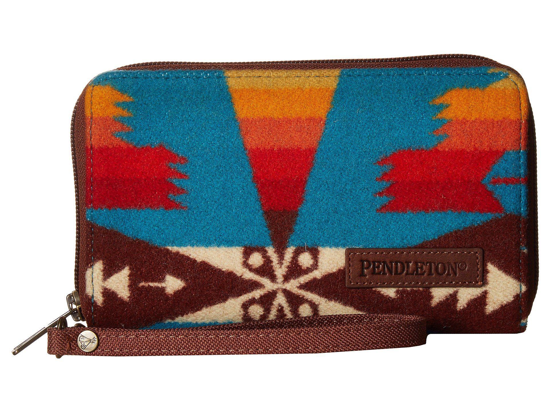 Lyst - Pendleton Smart Phone Wallet (tucson Turquoise) Wallet Handbags cc9d117b0b7fc