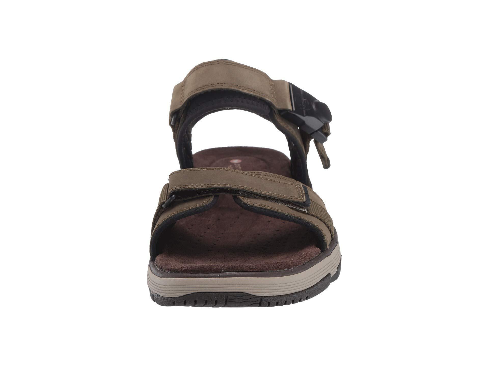 206e9ce635cd Lyst - Clarks Untrek Part (dark Tan Leather) Men s Sandals in Brown ...