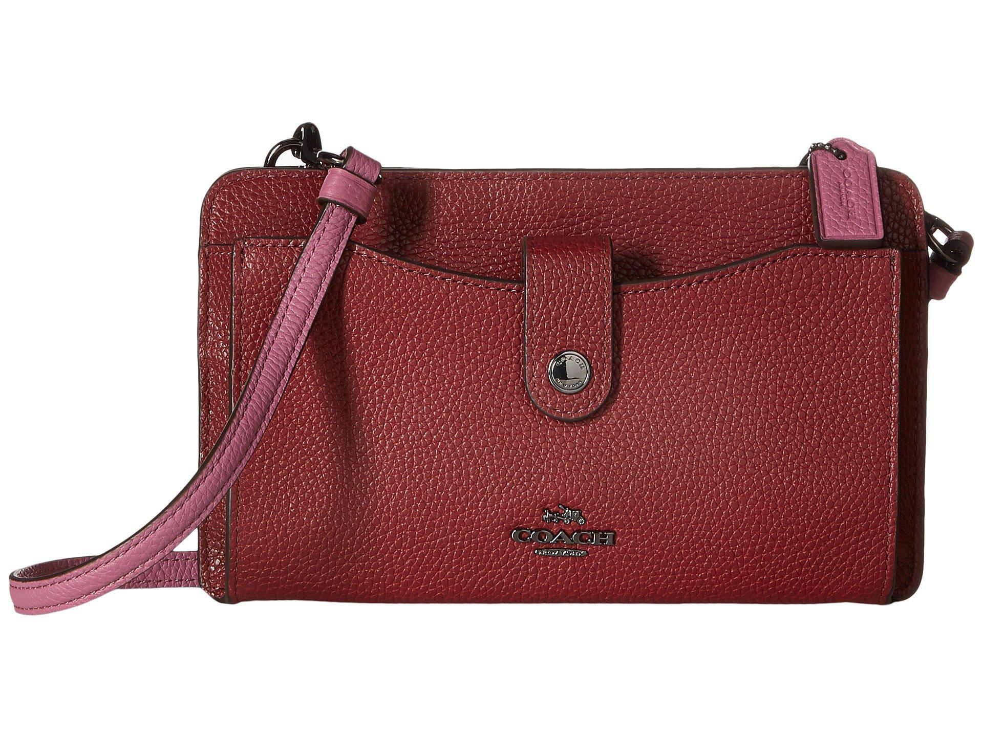 708f3f679c ... switzerland lyst coach pop up messenger in color block leather in red  9656c 92c6e