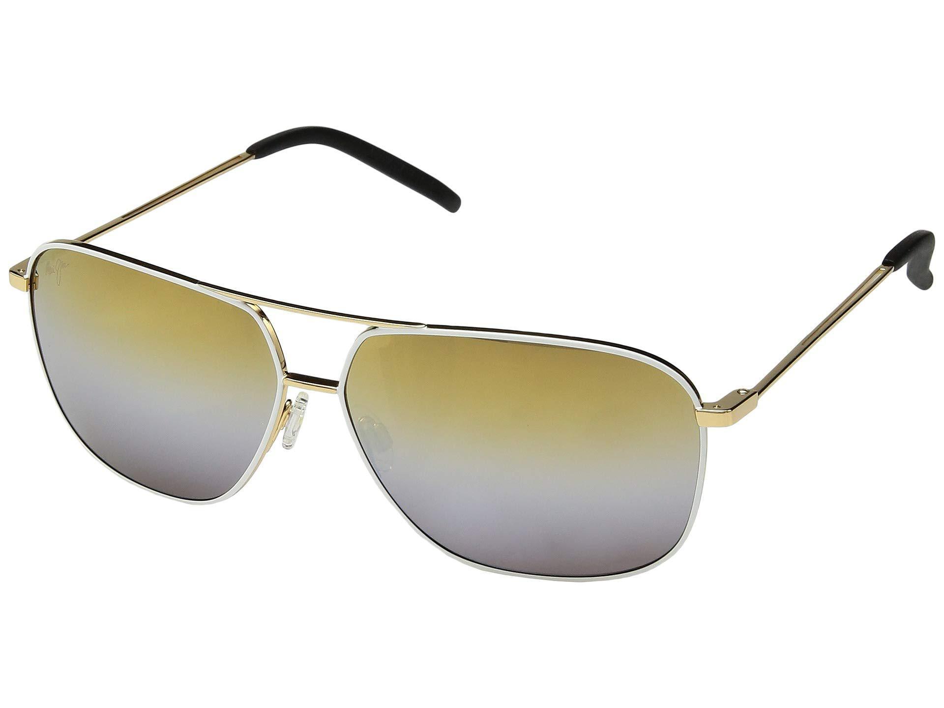 37f74f5d2d67a Lyst - Maui Jim Kami (gunmetal dual Mirror(silver To Black Over ...