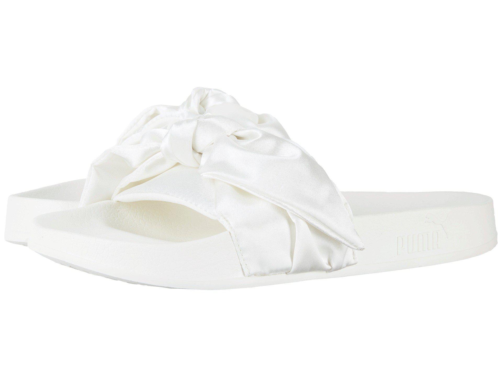 finest selection 03e21 4d7eb PUMA White Bow Slide Fenty By Rihanna