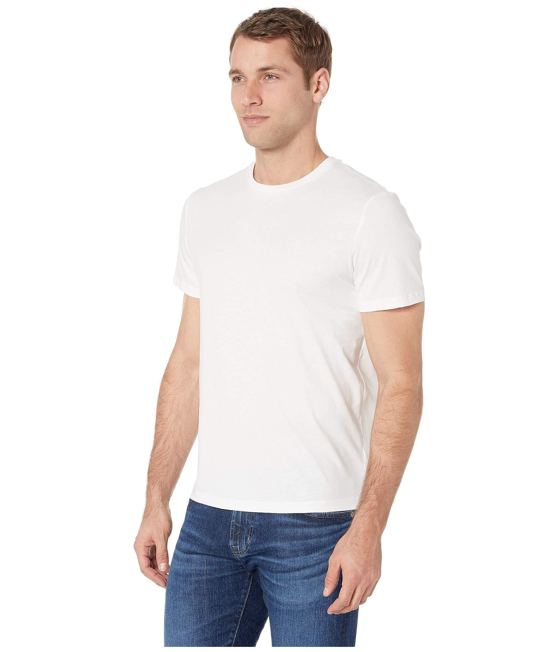 4b8c7c34e527 Lyst - Calvin Klein The Jersey Tee (black) Men's Clothing in White for Men  - Save 30%