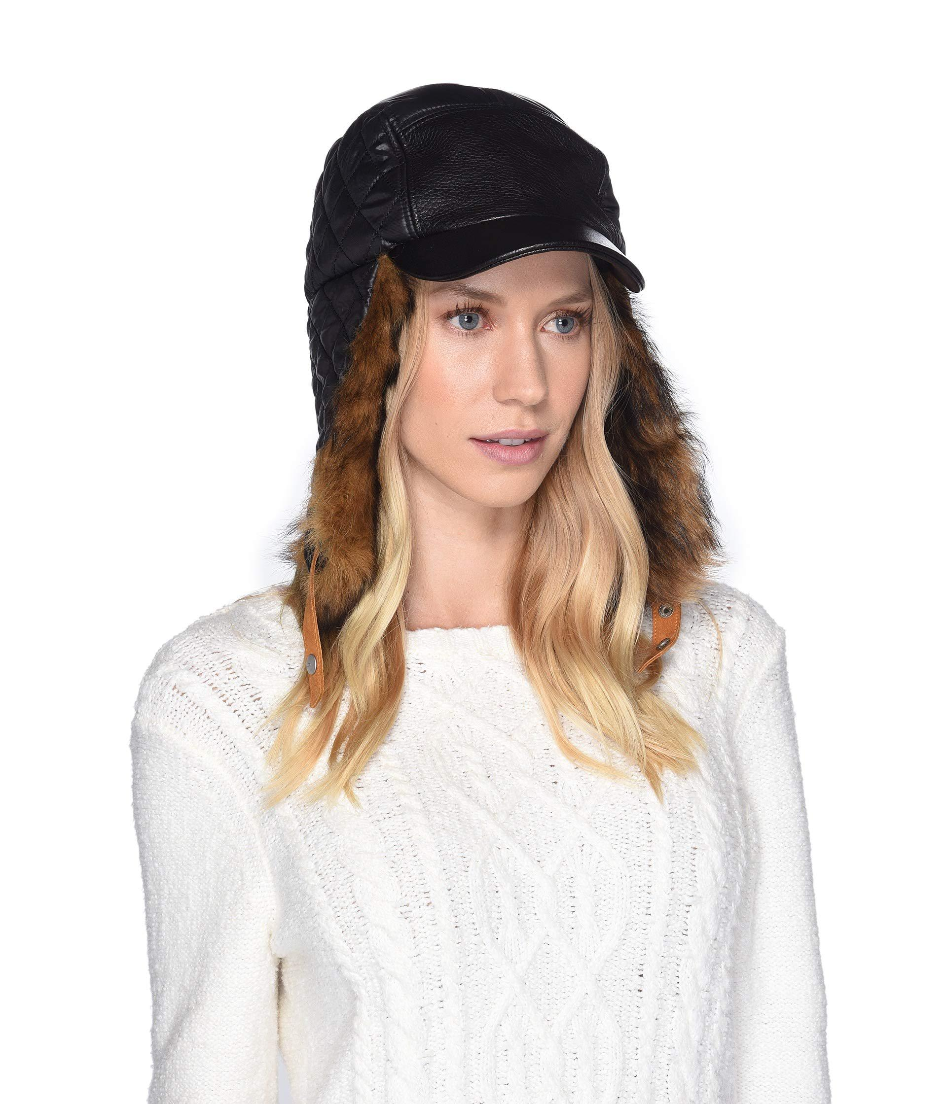 Lyst - UGG All Weather Water Resistant Baseball Trapper (black) Caps ... 8d853e3c6e74