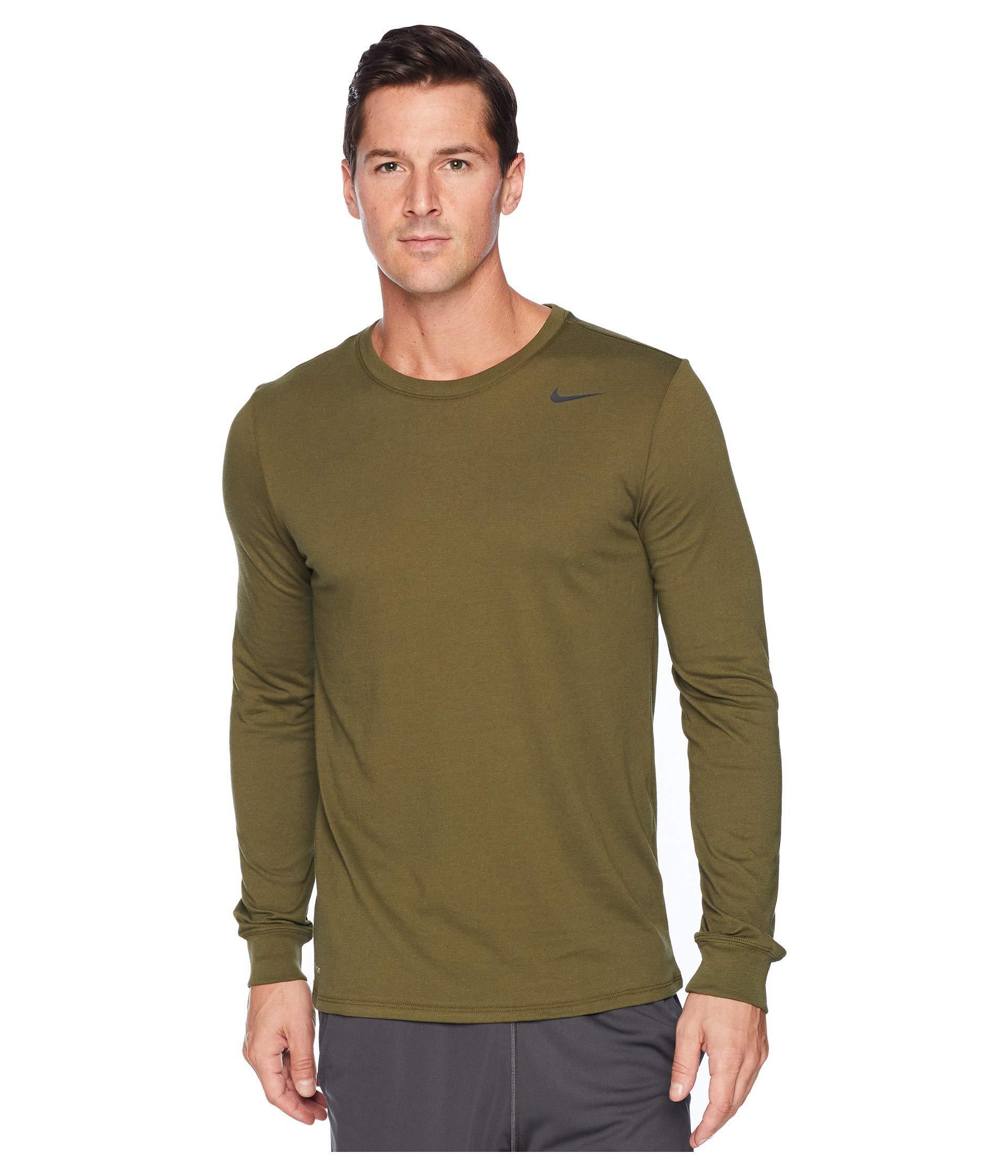 bcc483ddd44 Lyst - Nike Dry Training Long Sleeve T-shirt (black anthracite ...