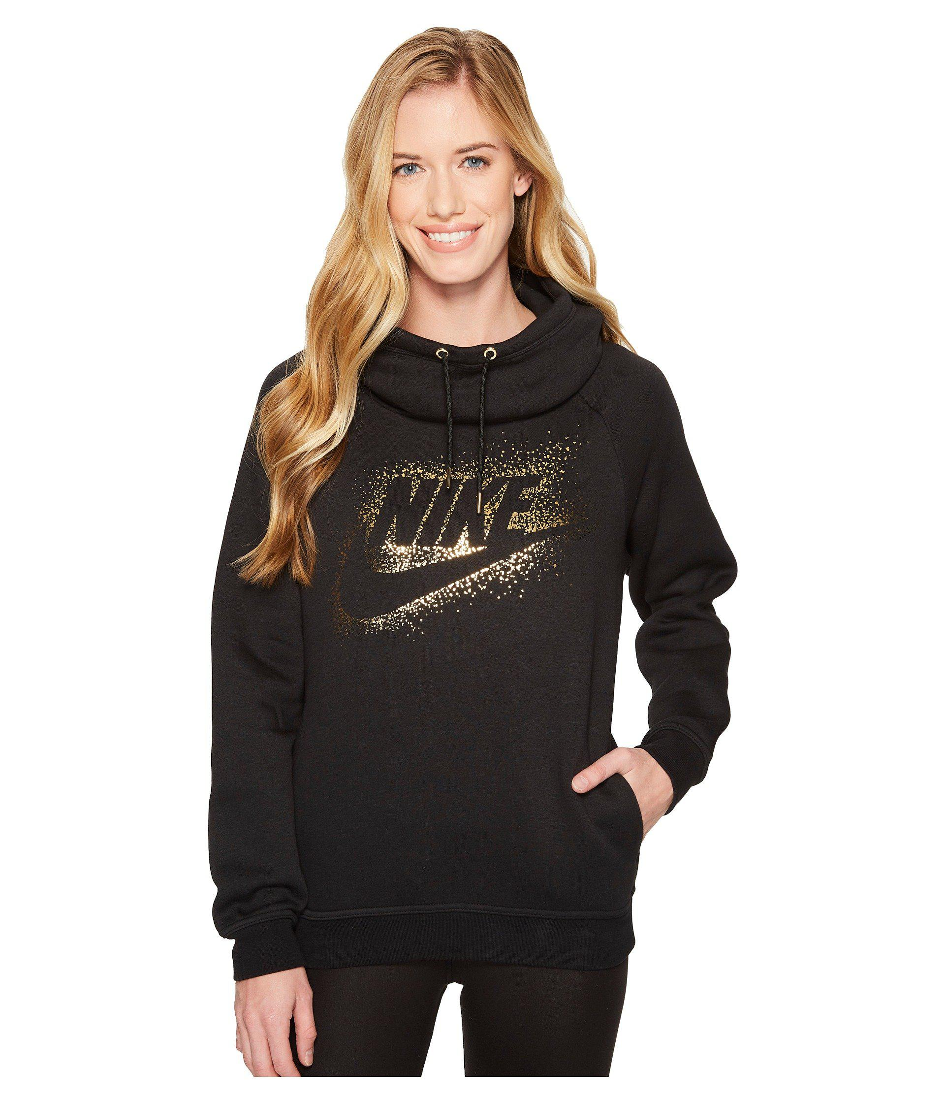 Sportswear Rally Funnel neck Metallic logo Hoodie