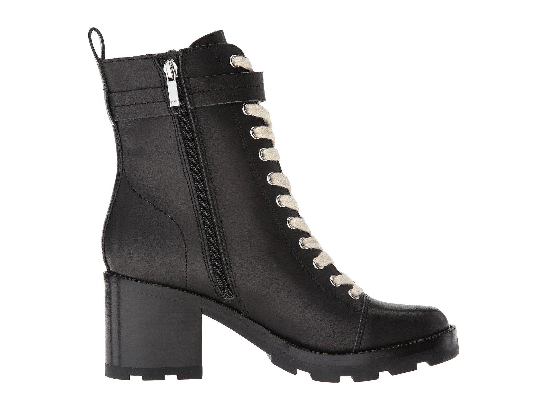 Waren Round Toe Lace Up Leather Boots