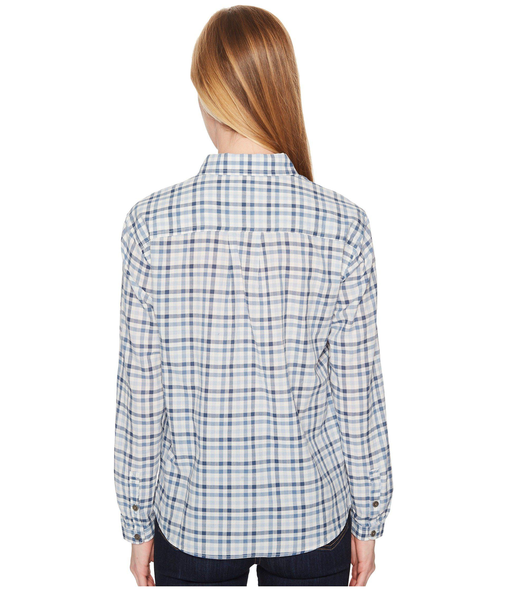 d1af7f33c The North Face Barilles Pullover Shirt (dusty Blue Gingham) Long Sleeve  Button Up