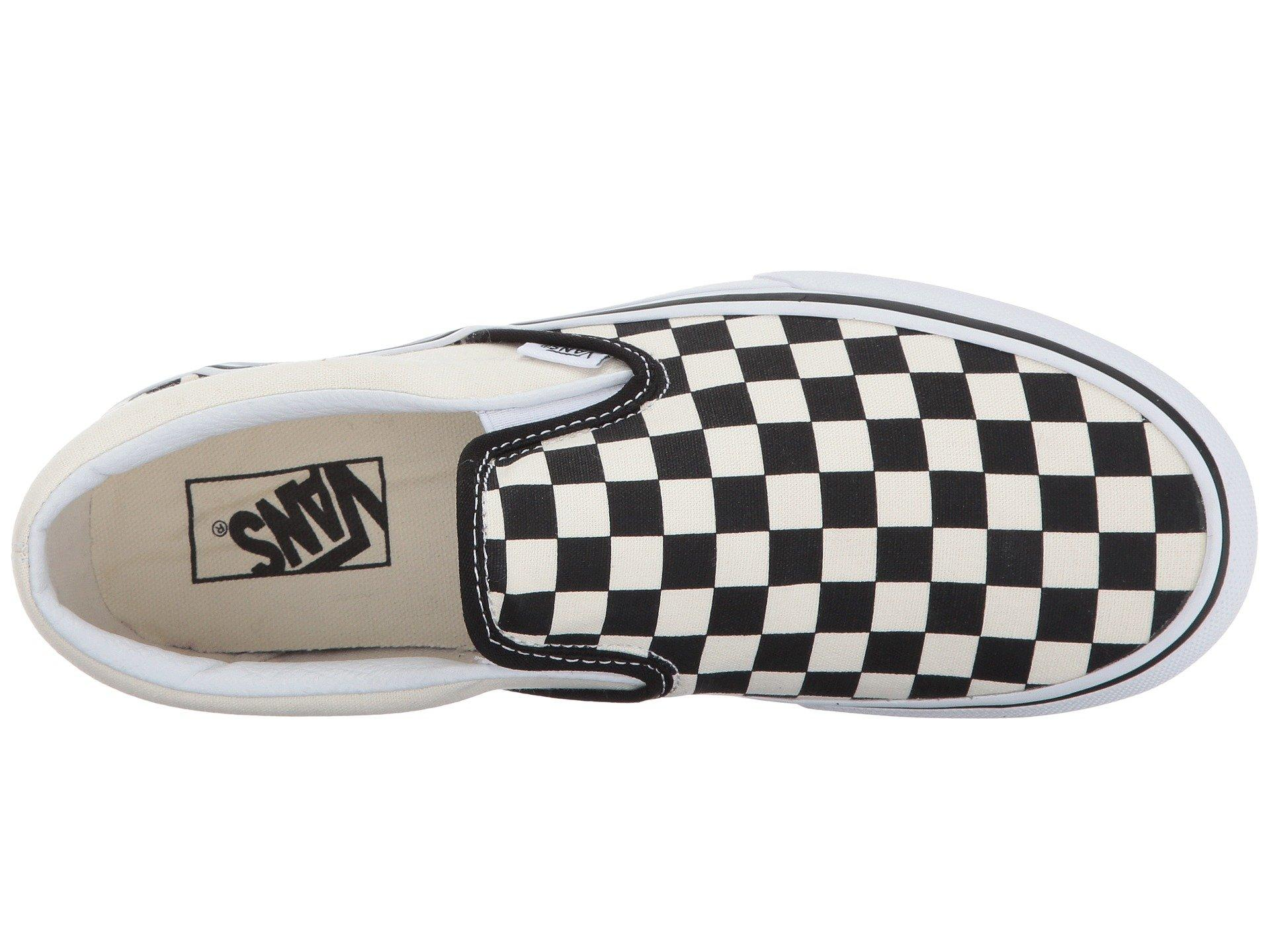 7681ec96077 Vans - White Women s Checkerboard Slip-on Platform Sneakers - Lyst. View  fullscreen