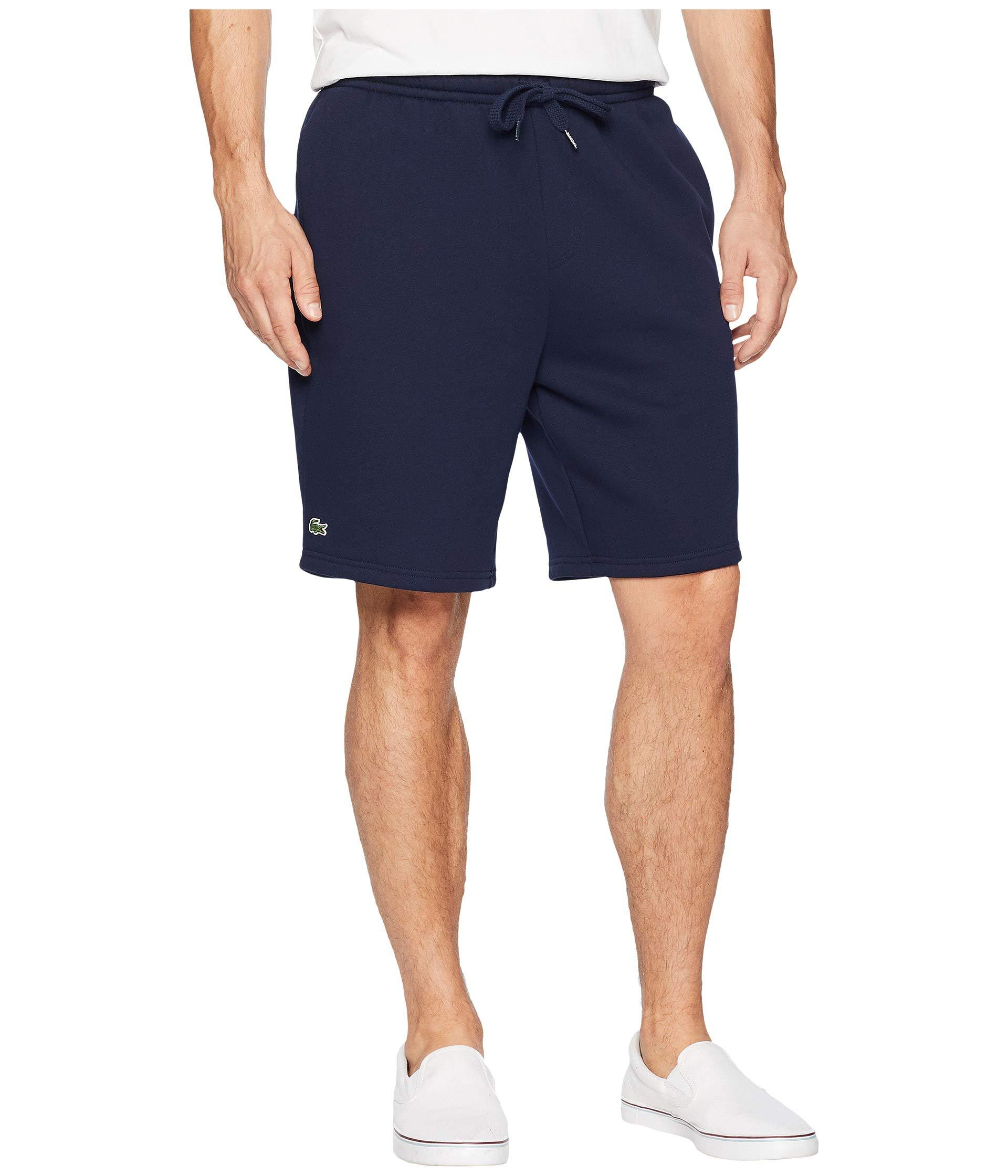 298aae576809f1 Lyst - Lacoste Sport Fleece Shorts (navy Blue) Men s Shorts in Blue ...