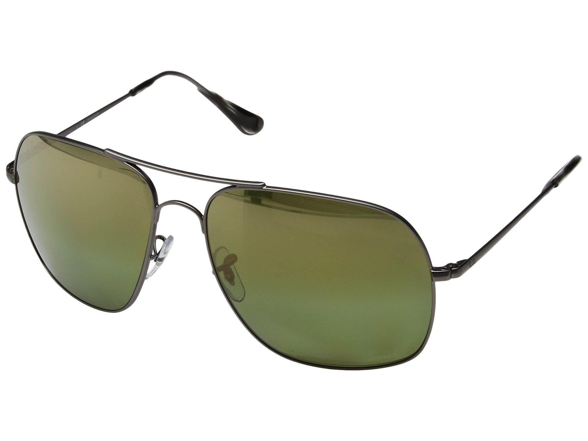 684b6d4769f Ray-Ban. Men s Rb3587ch Chromance 61mm (gunmetal polarized Green Mirror  Chromance) Fashion Sunglasses
