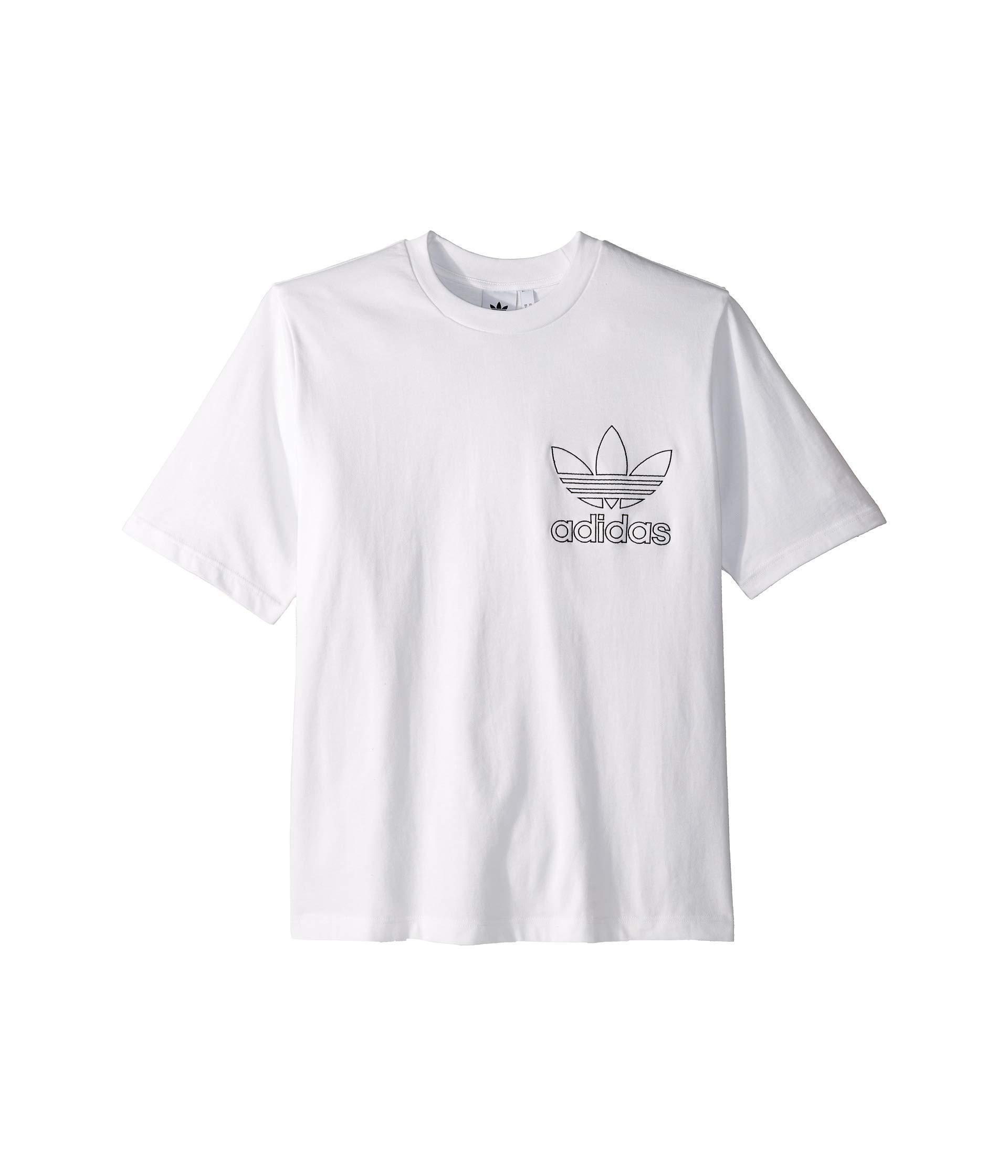 71daa684 adidas Originals Outline Tee (white) Men's T Shirt in White for Men ...